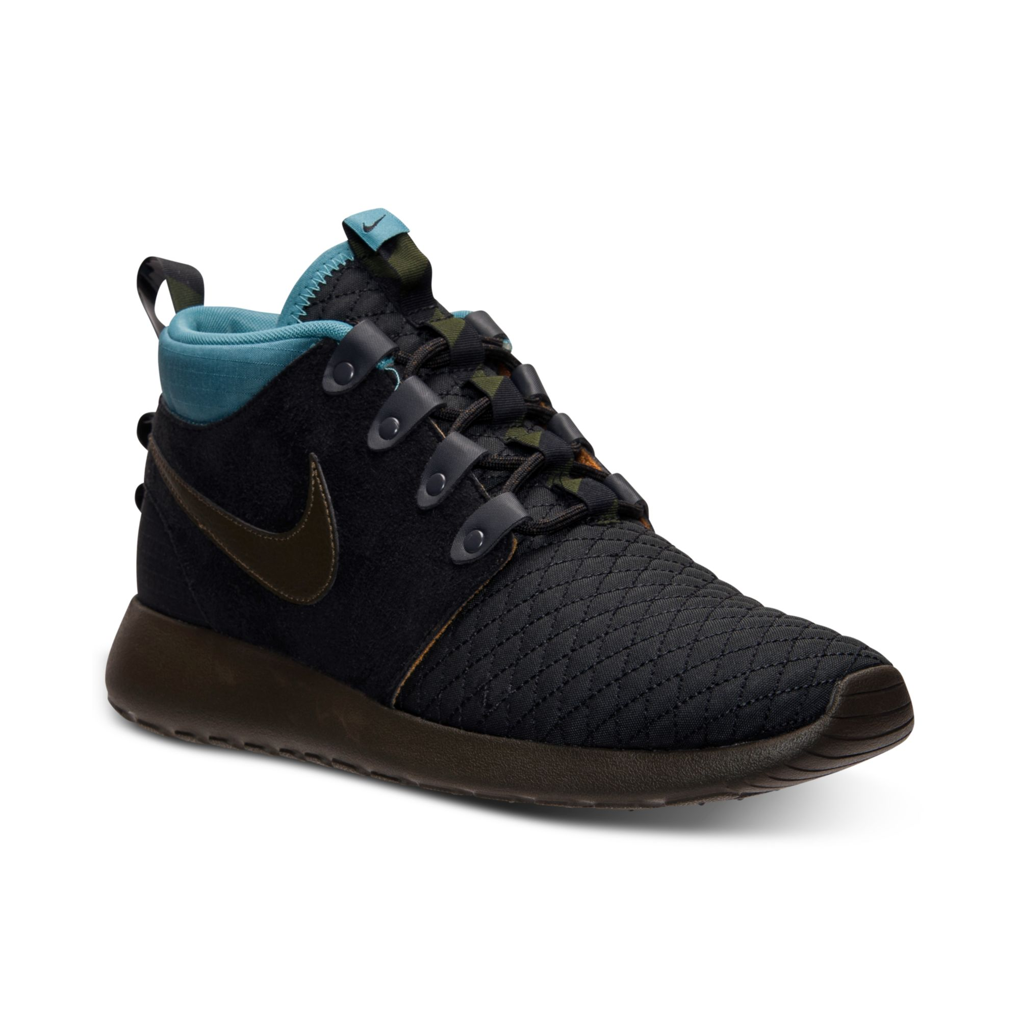 Mens Nike Roshe Run Mid Winter Casual Outdoor Shoes