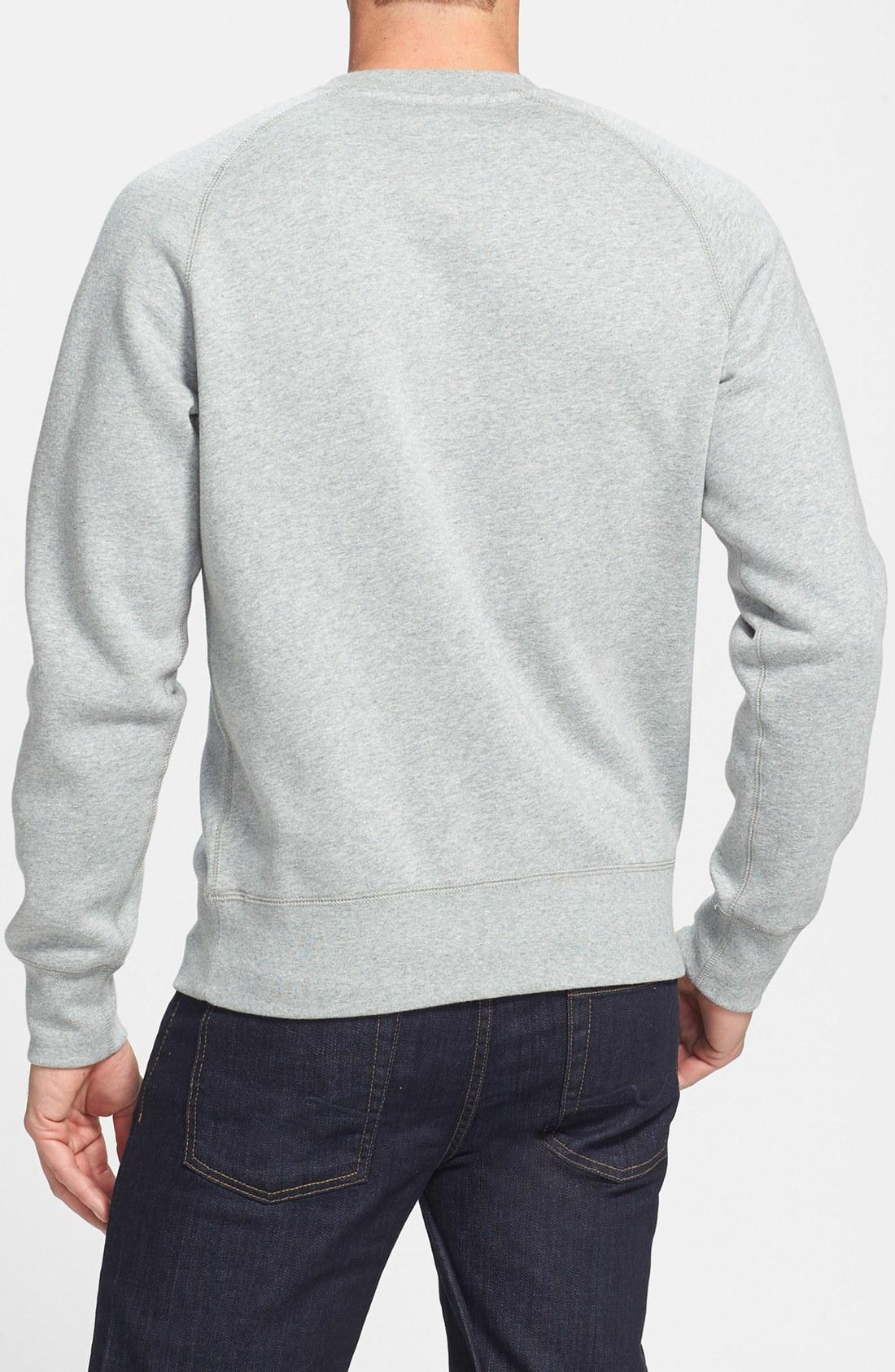 nike aw77 crewneck sweatshirt in gray for men lyst. Black Bedroom Furniture Sets. Home Design Ideas
