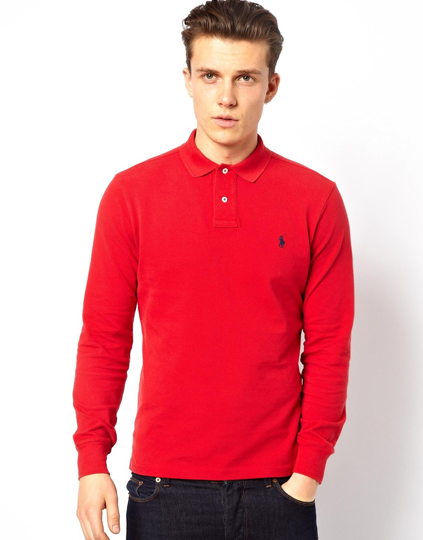 izod long sleeve polo shirts for men