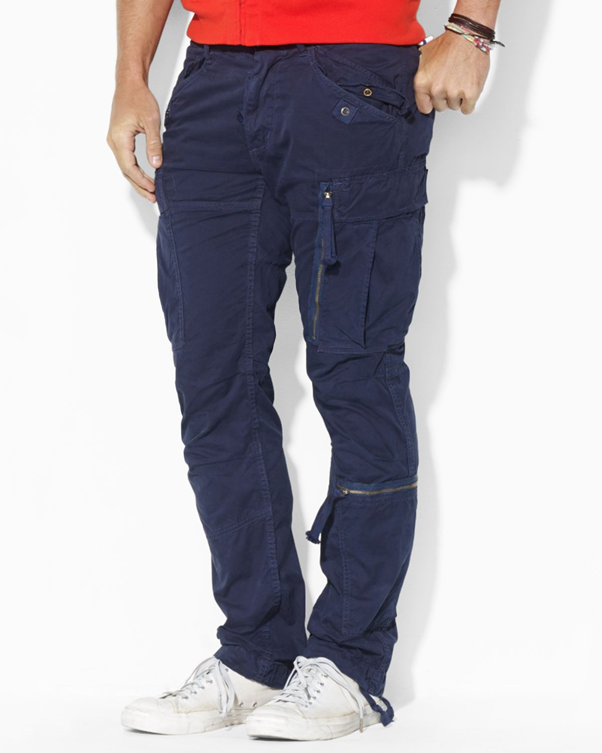 Ralph lauren Polo Military Cargo Pant in Blue for Men | Lyst