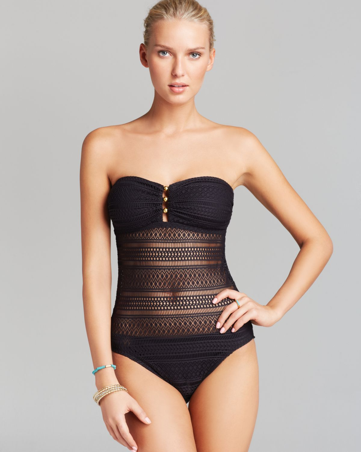 sheer one piece swimsuits gallery #3
