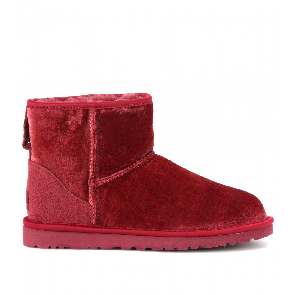 Ugg Classic Mini Velvet Boots In Red Lyst