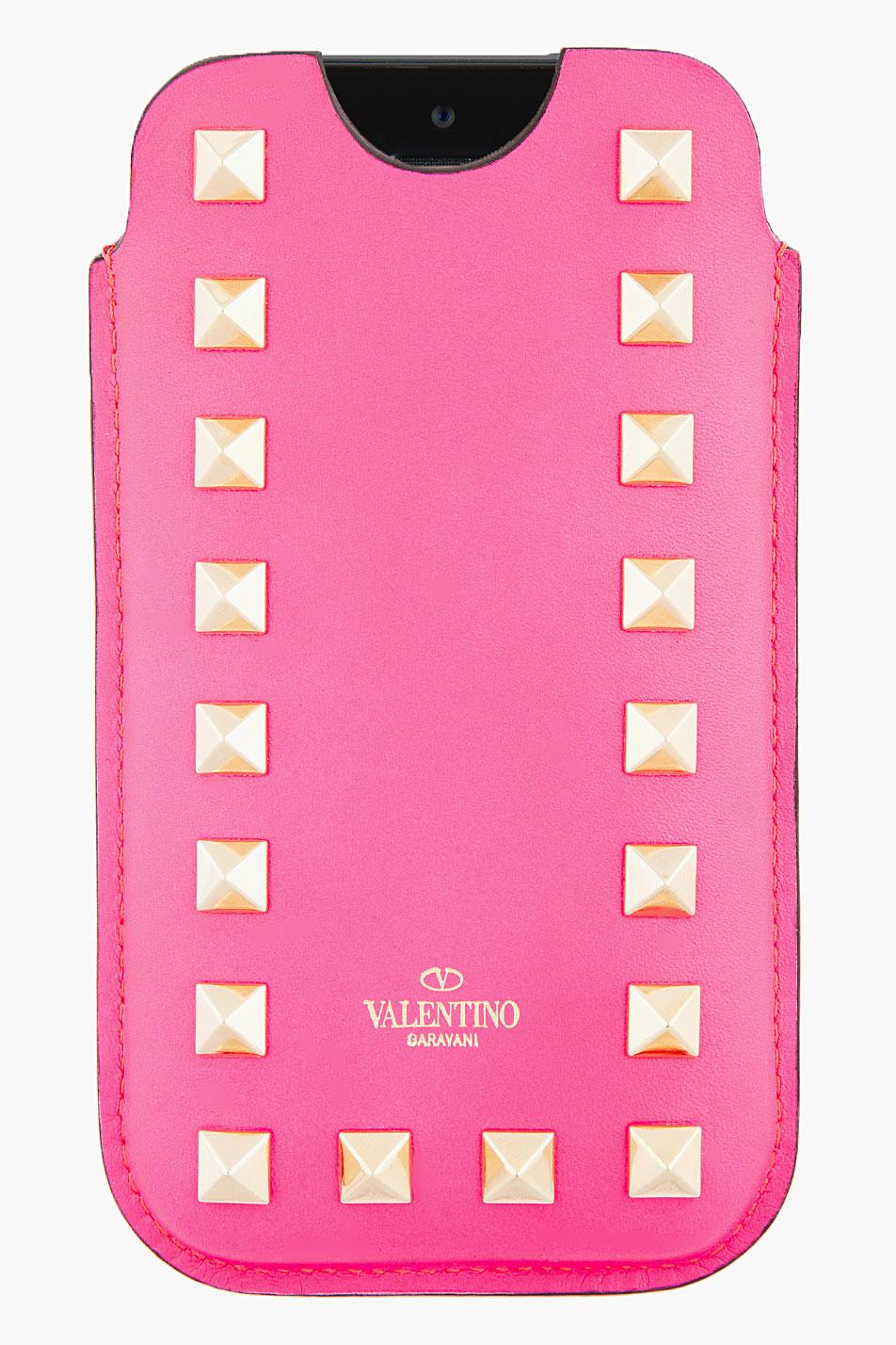 Valentino Iphone Cuero De La Mujer 5 / 5s / Se Caso El Tamaño Magenta Valentino ZLQVnTkea0