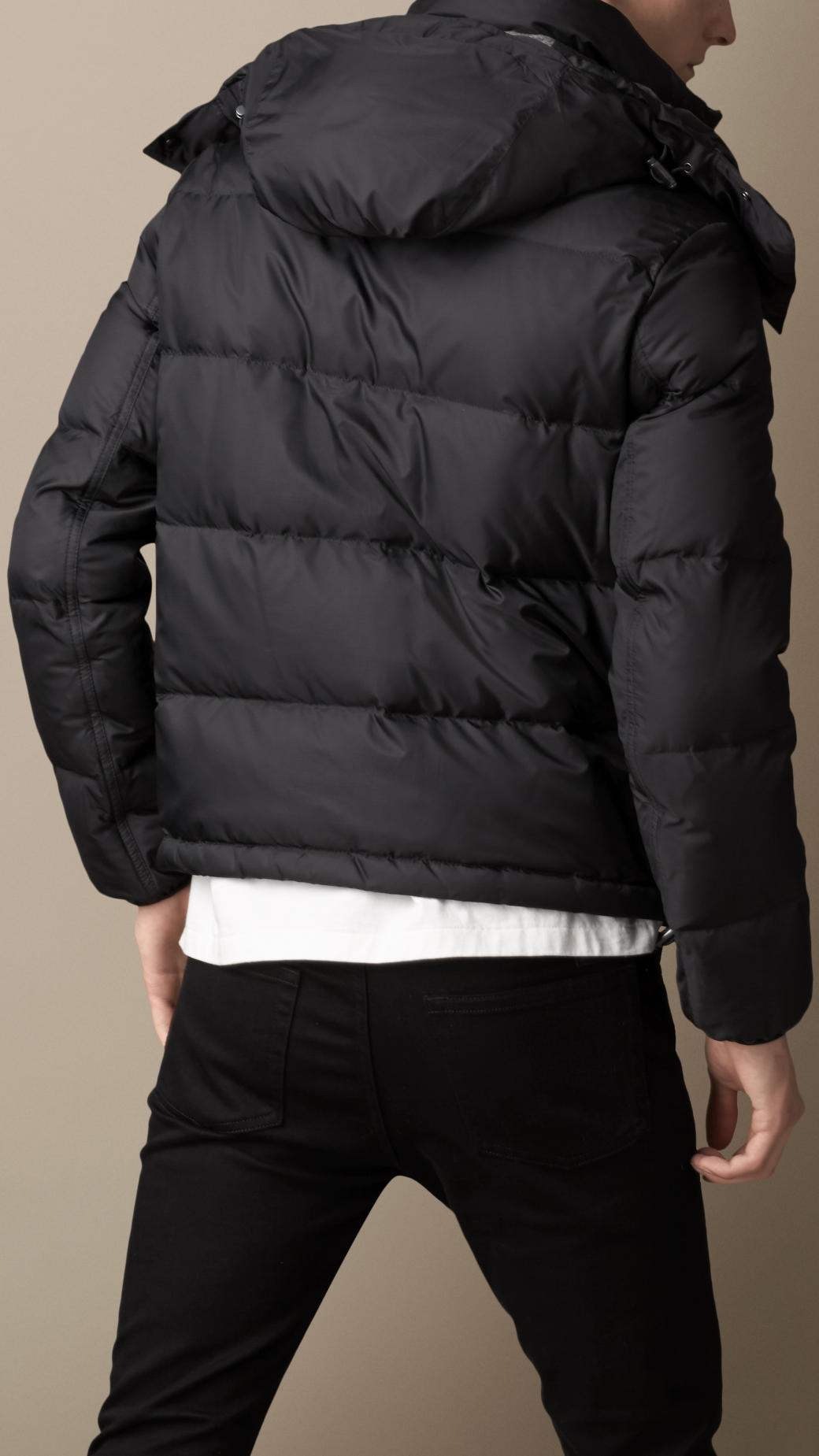 Lyst - Burberry Downfilled Hooded Puffer Jacket in Black