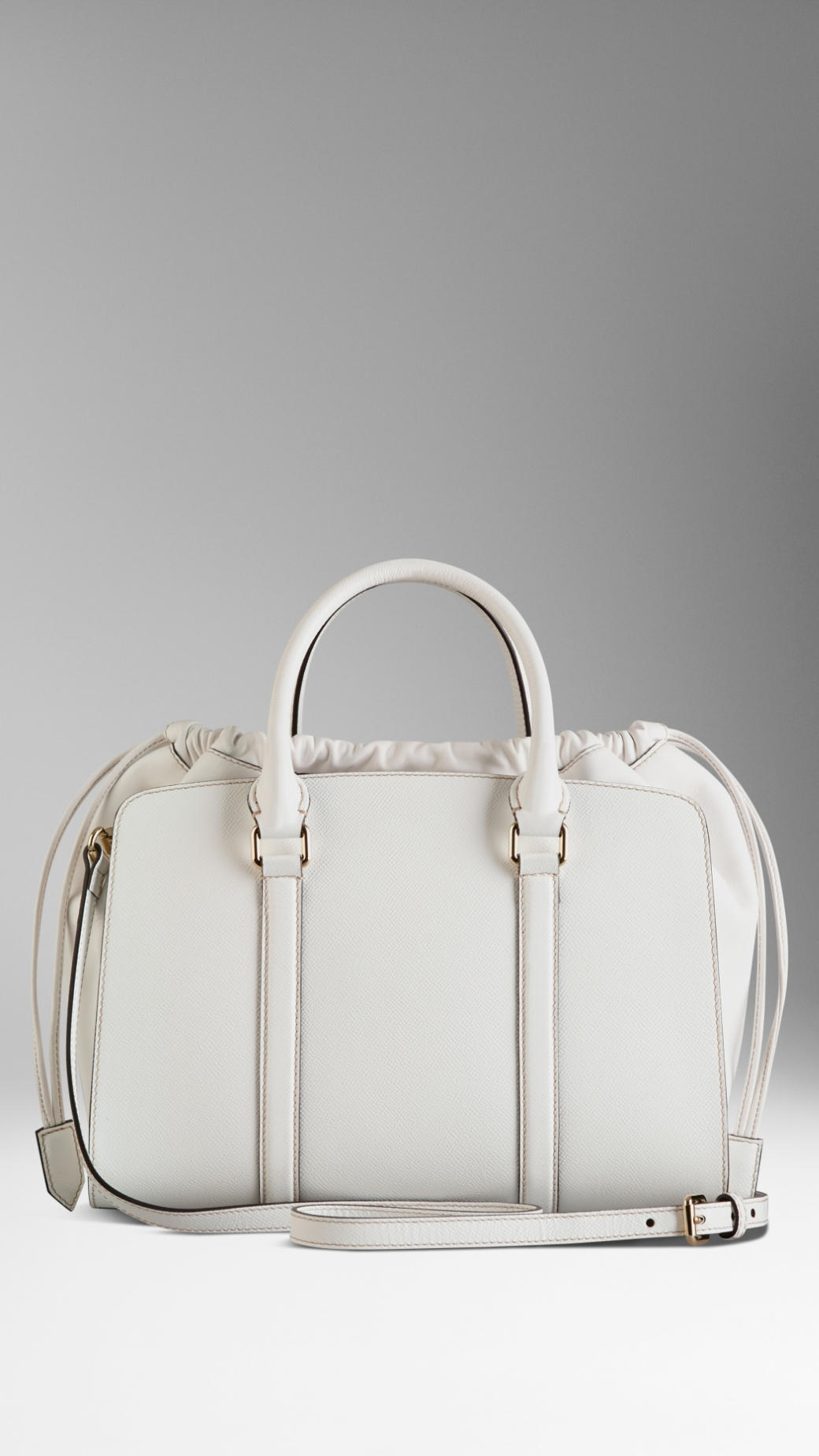 Lyst - Burberry Medium Patent London Leather Bag in White d200bf54354b7