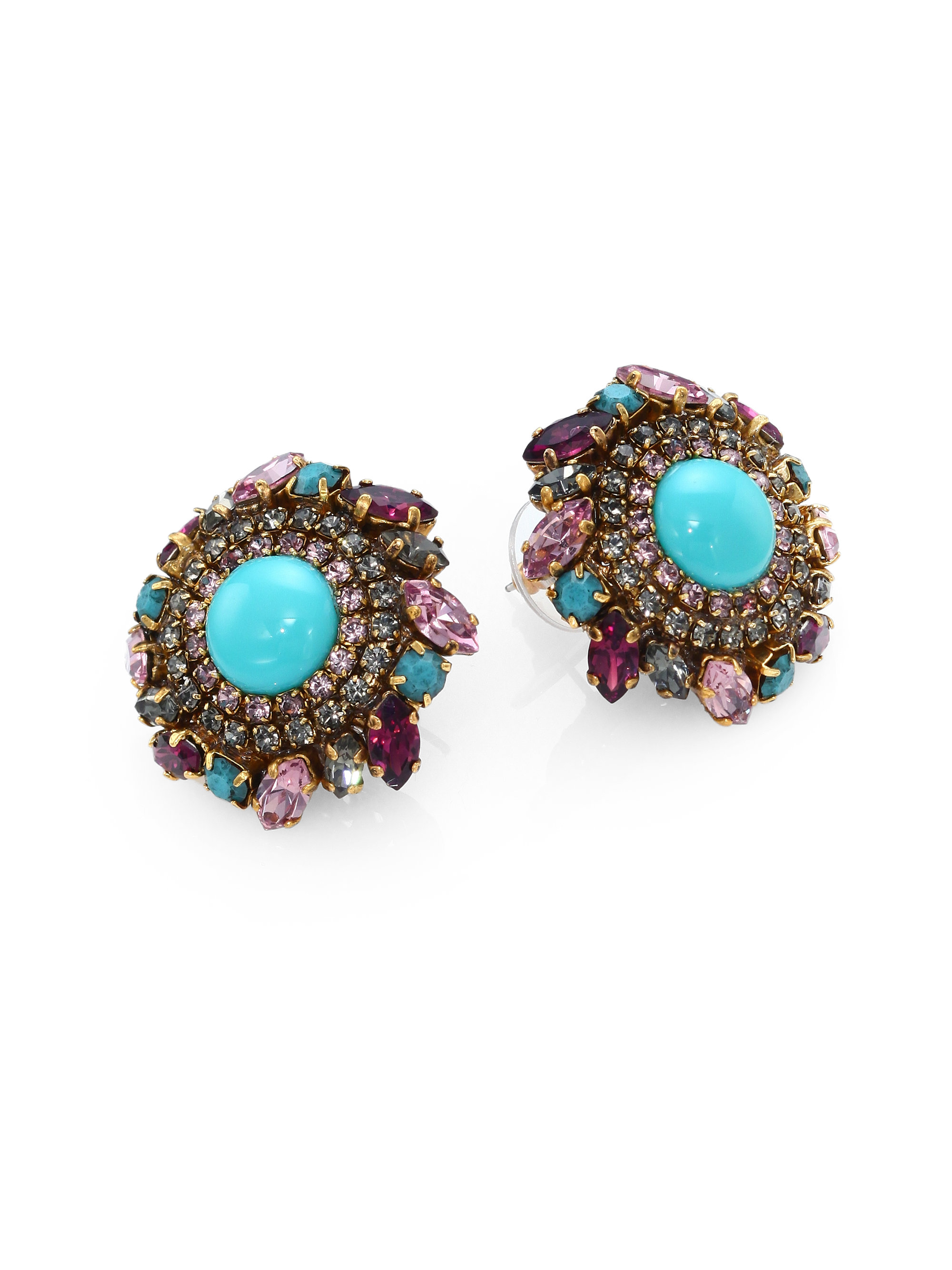 erickson beamon damsel spiral fringe earrings in