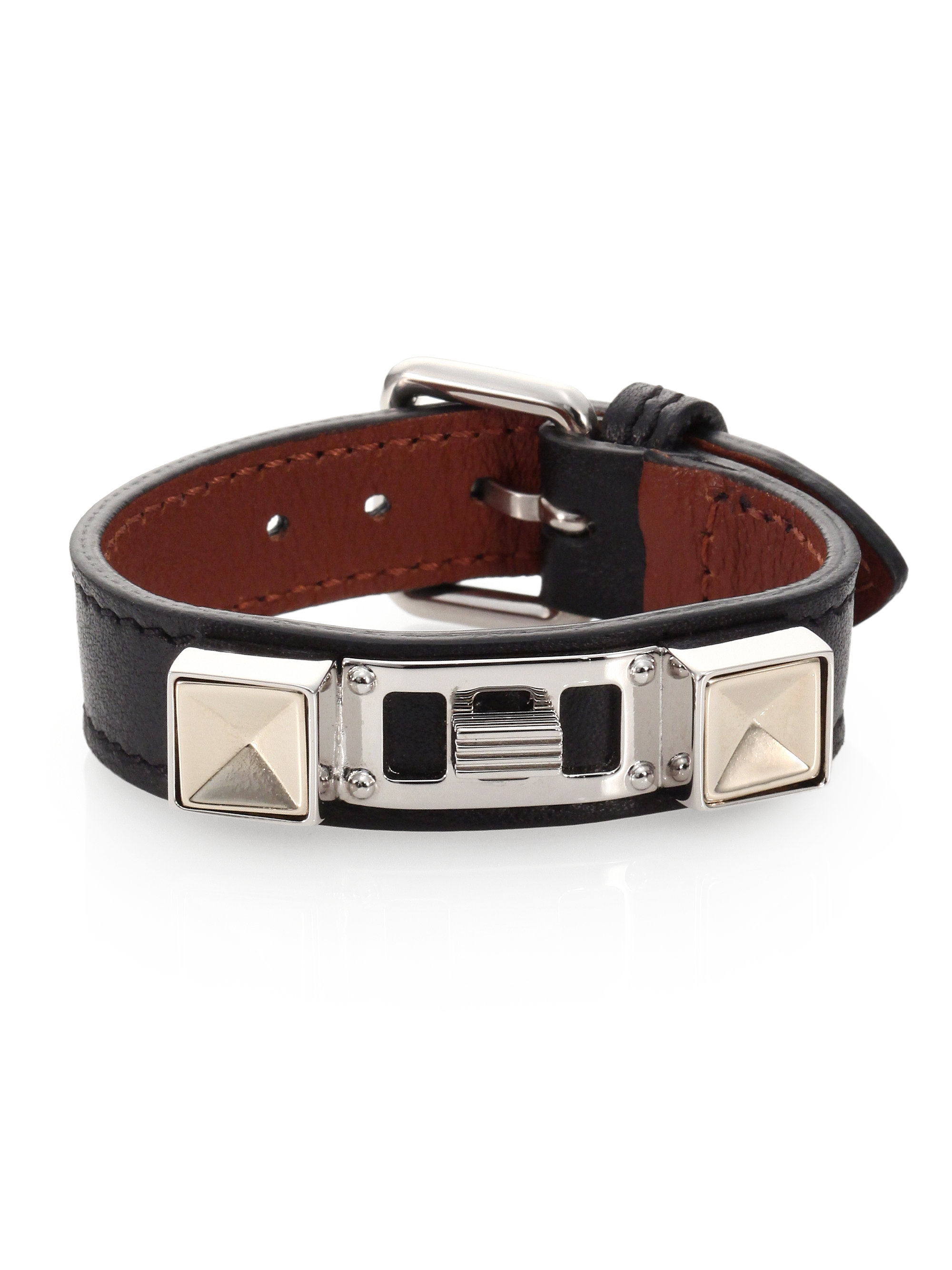 Proenza schouler Ps11 Small Leather Bracelet in Black ...