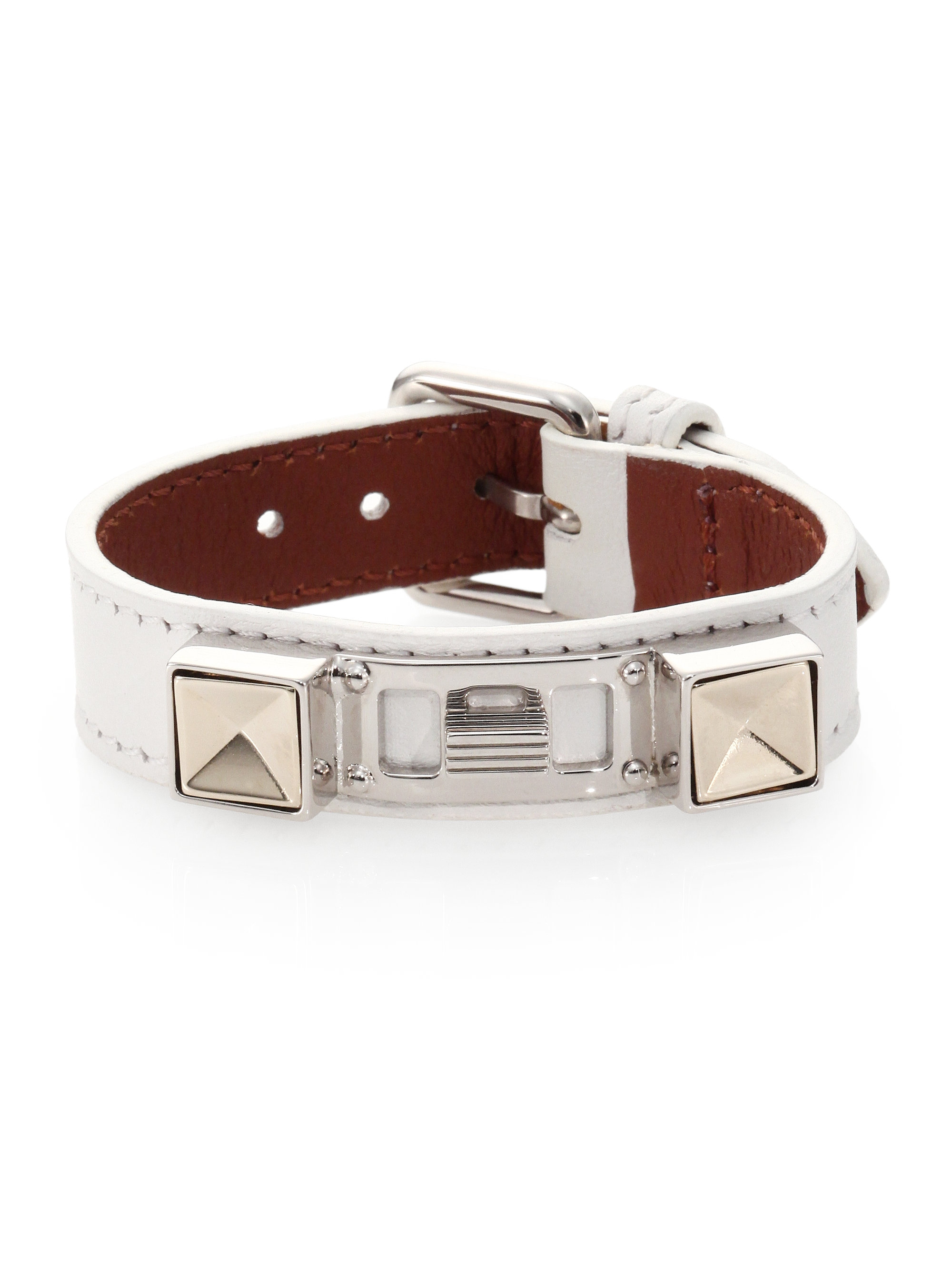 Proenza schouler Ps11 Small Leather Bracelet in White