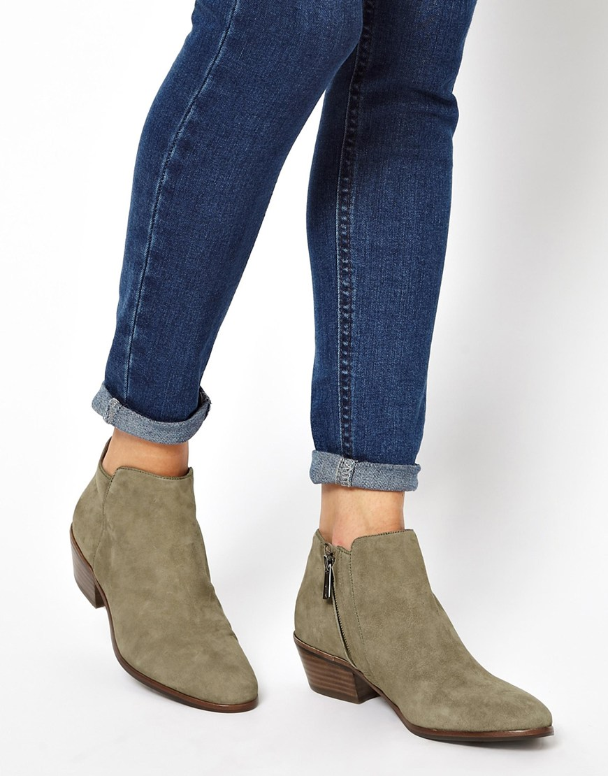0679b2cd9940 Lyst - Sam Edelman Petty Beige Ankle Boots in Natural