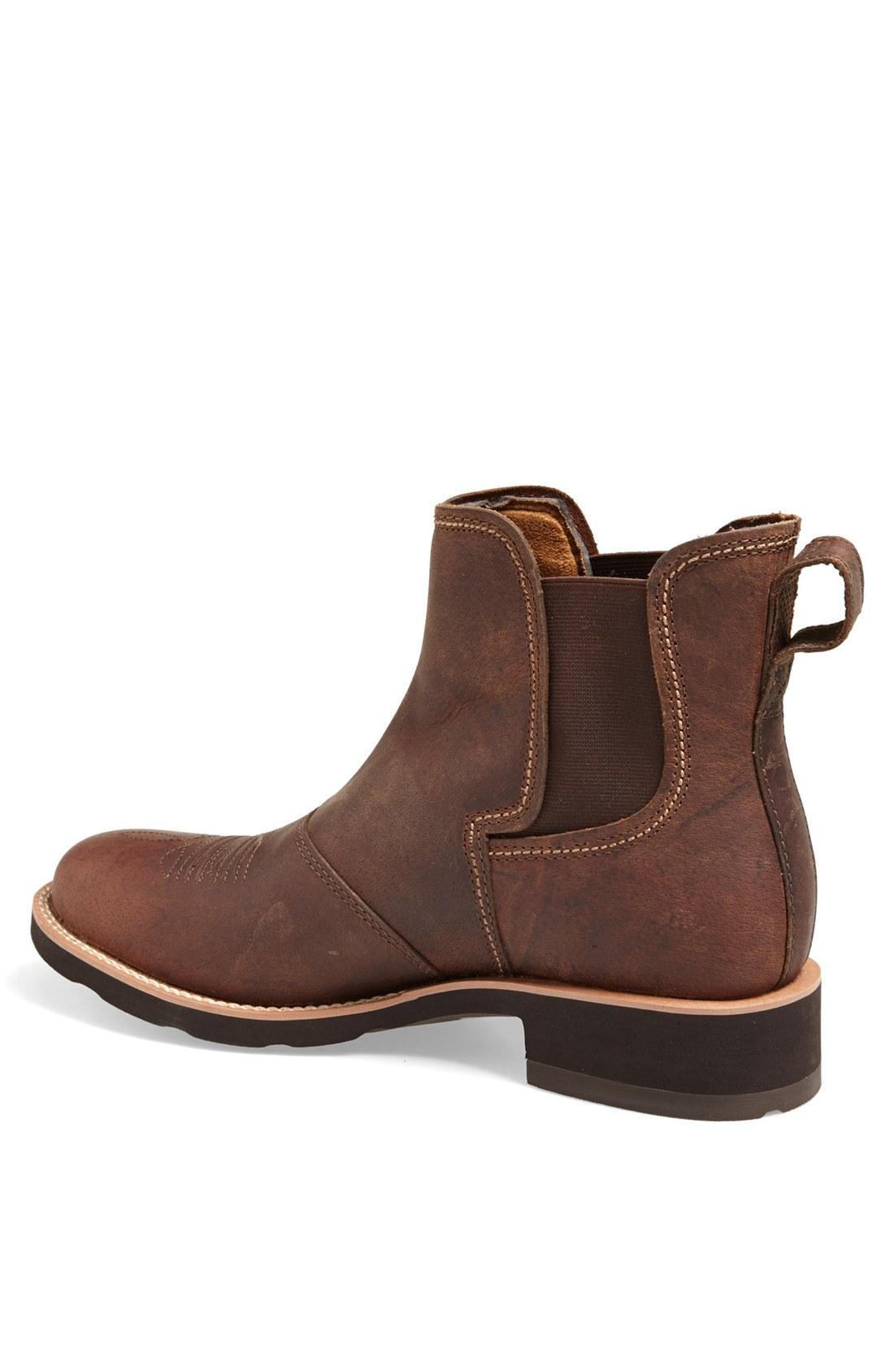 Ariat Ambush Chelsea Boot in Brown for Men | Lyst