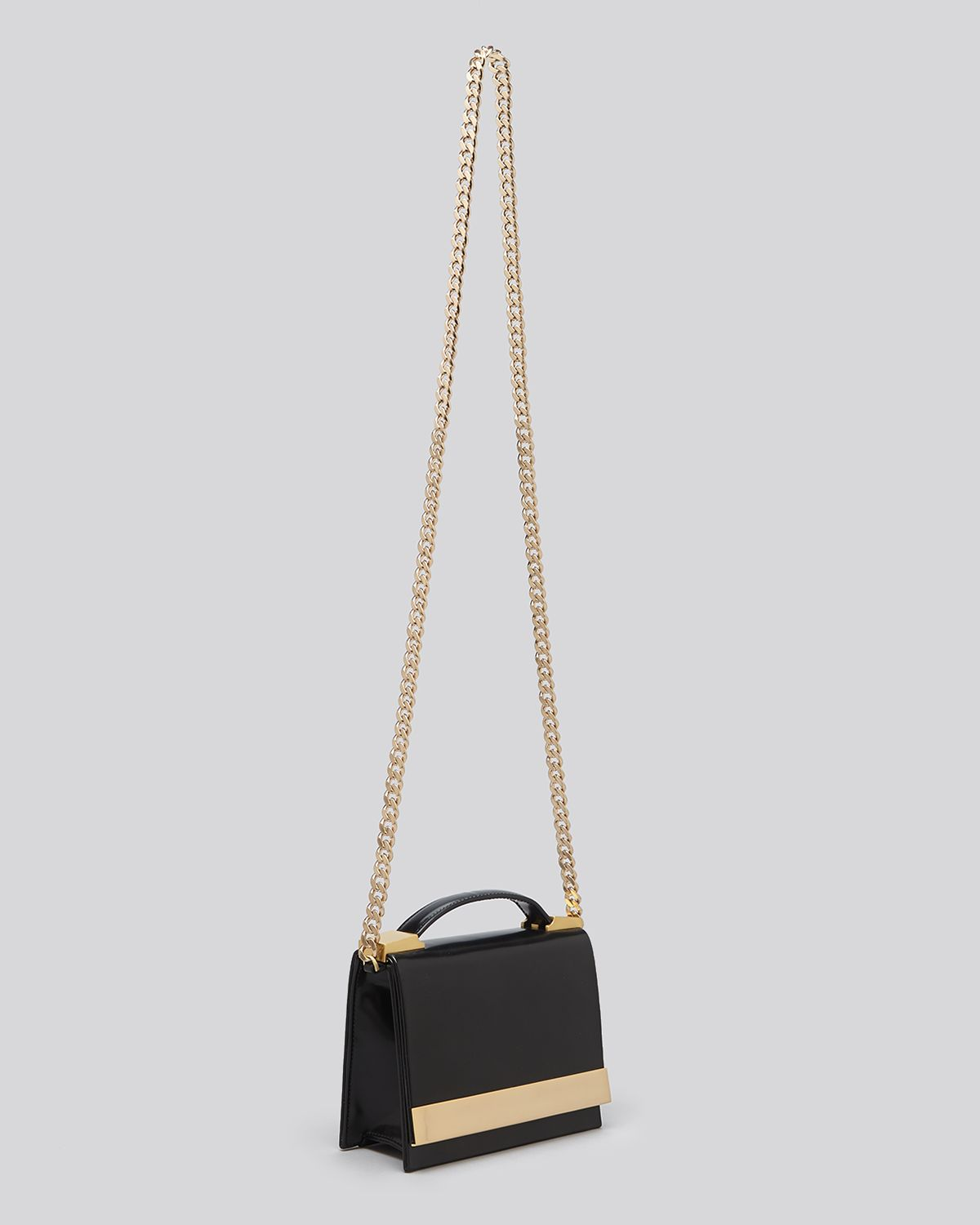 B Brian Atwood Crossbody Ava Box Top Handle in Black