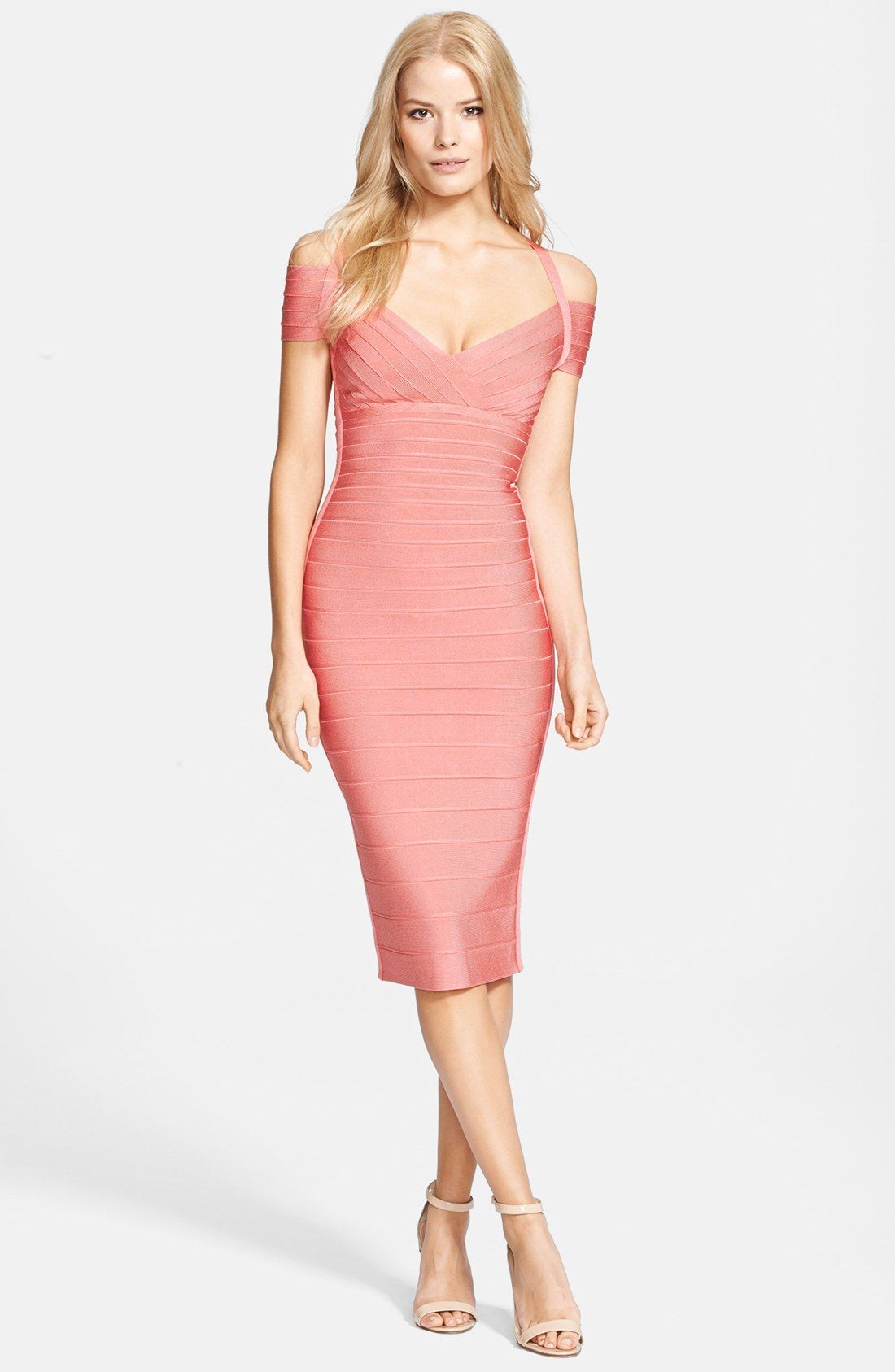 Pink Bandage Dresses