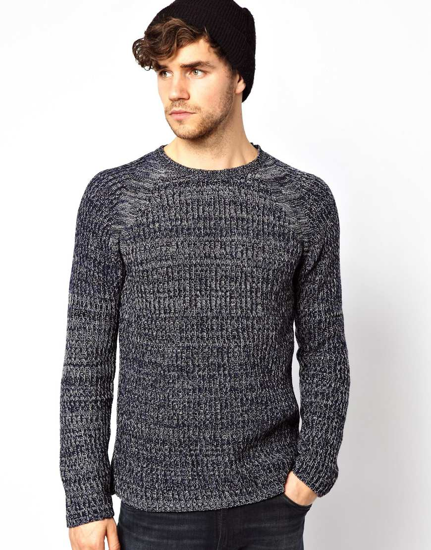 1d21dbfce3b Nudie Jeans Gray Nudie Crew Knit Sweater Vladimir Rib Raglan for men