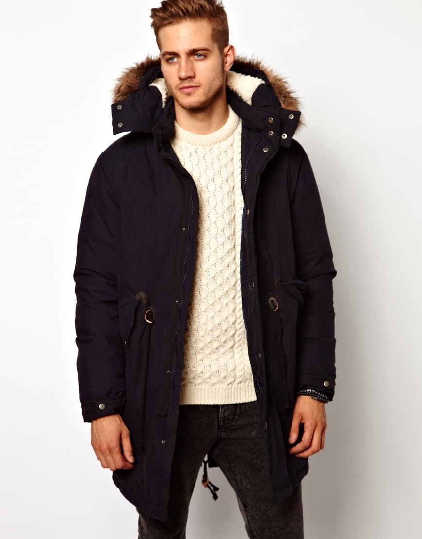 sells lace up in best authentic Fishtail Parka with Down