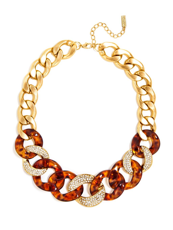 Lyst Baublebar Tortoise Crystal Link Necklace In Metallic