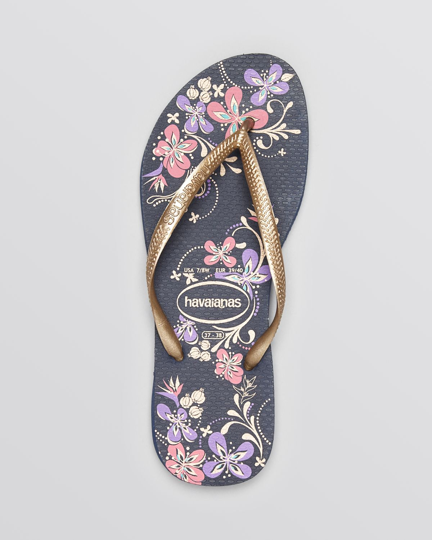 ca221370a4eb66 Lyst - Havaianas Flip Flops - Slim Season in Metallic