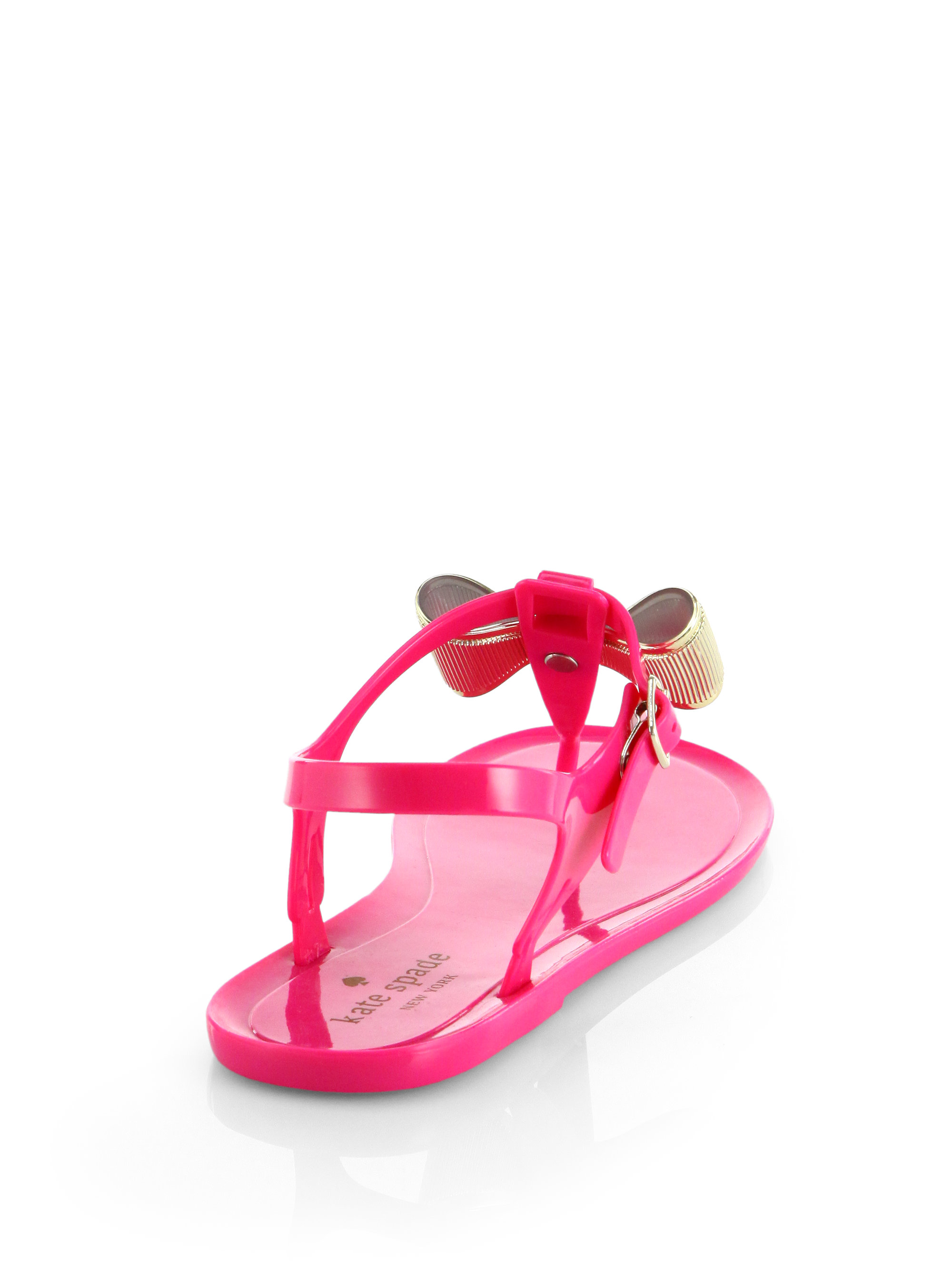 e72a4626eb0 Lyst - Kate Spade Fab Jelly Bow Sandals in Pink