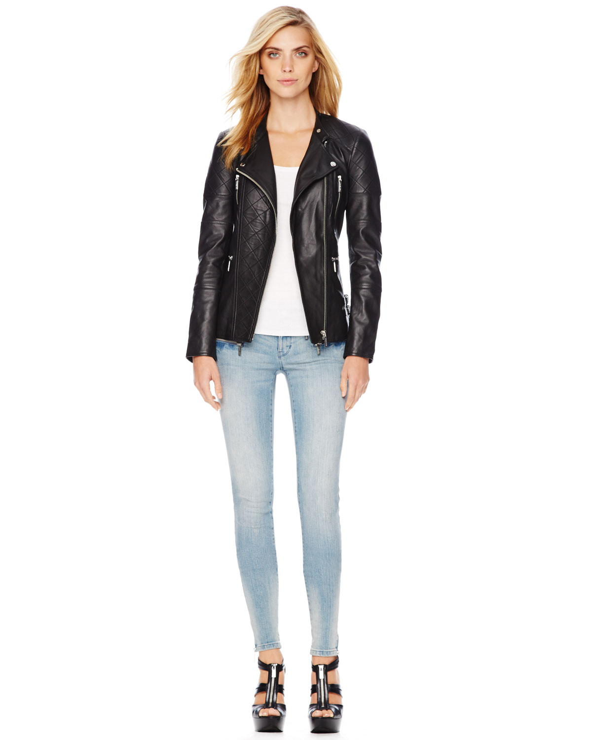 7a68376aa MICHAEL Michael Kors Black Quilted Leather Jacket