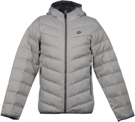 Nike Down Jacket In Gray For Men Light Grey Lyst