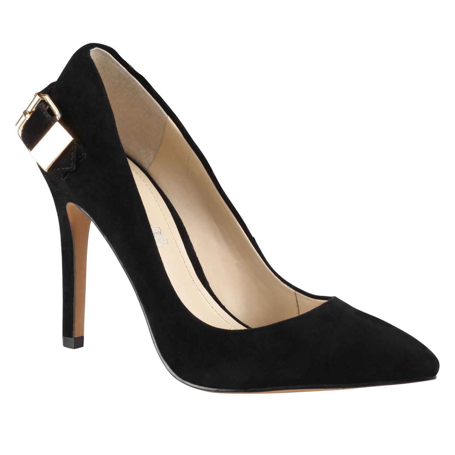 Black Suede Court Shoes Aldo