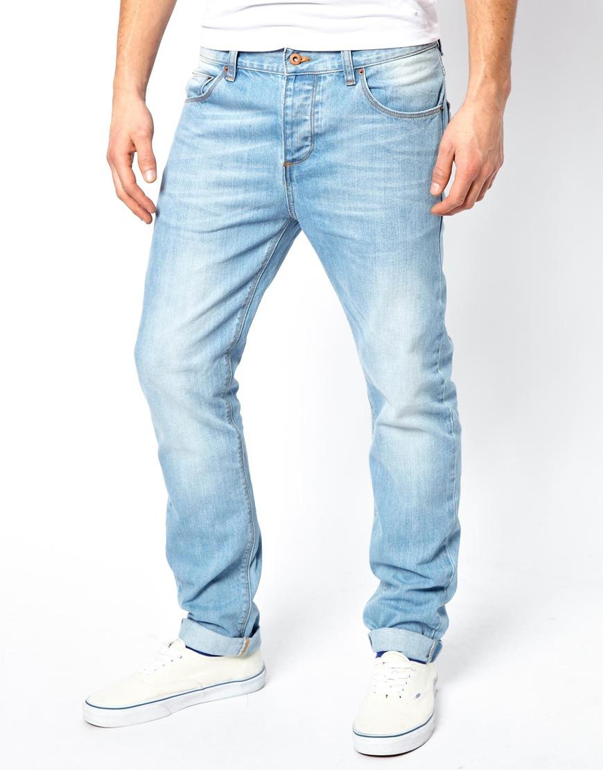 ASOS Slim Jeans In Light Wash in Blue for Men - Lyst
