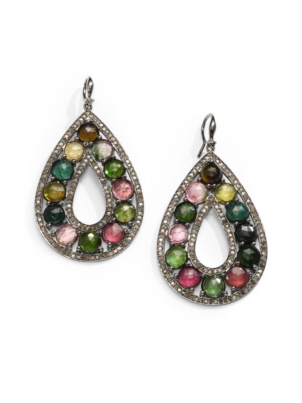 bavna jewelry bavna tourmaline sterling silver earrings lyst 4904