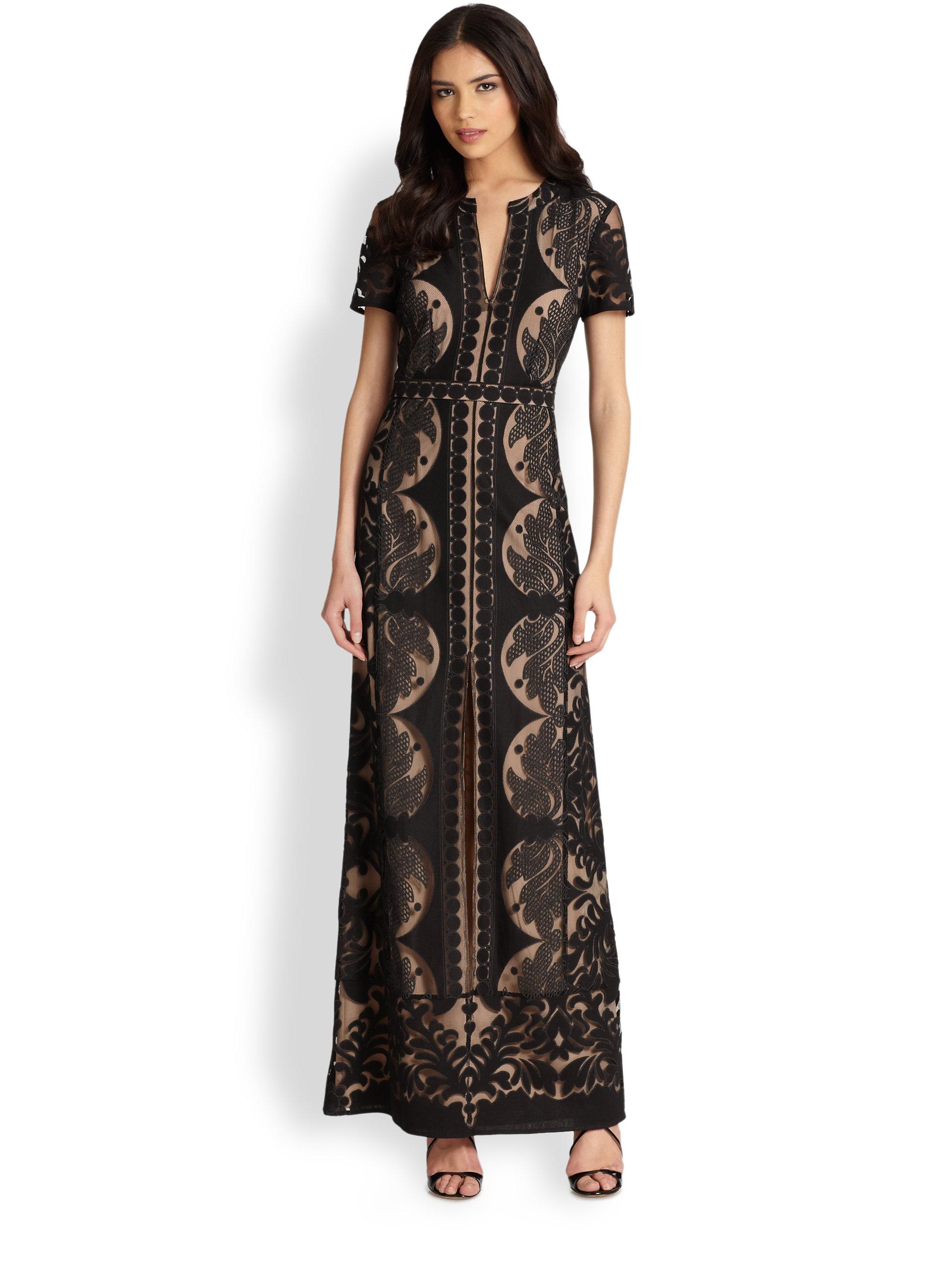 Bcbgmaxazria Cailean Lace Maxi Dress In Black Lyst