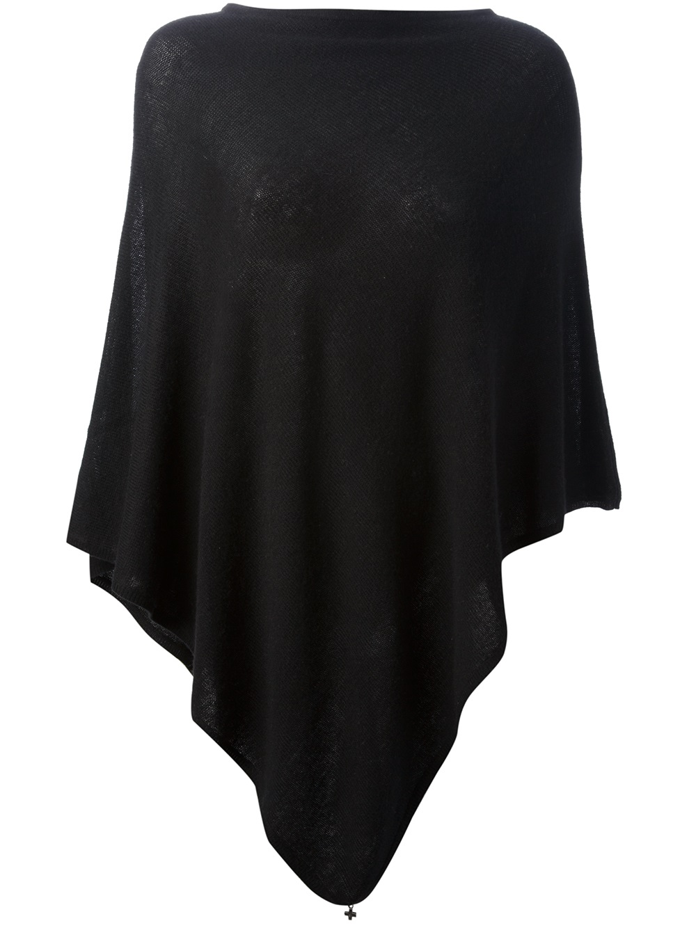 Lyst Beryll Knitted Poncho In Black