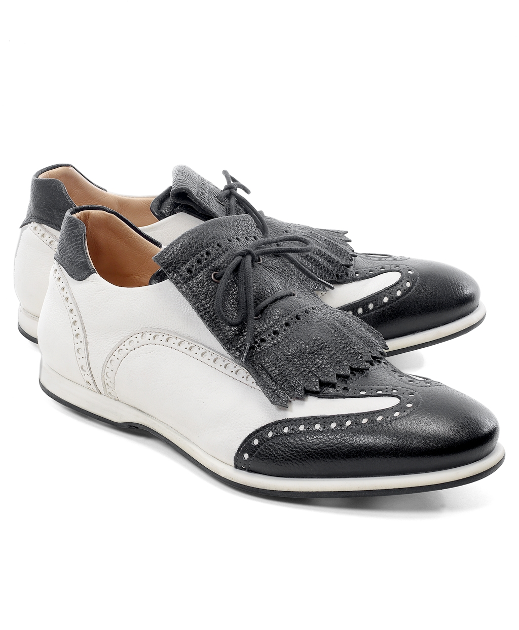 Golf White Pants Black Shoes