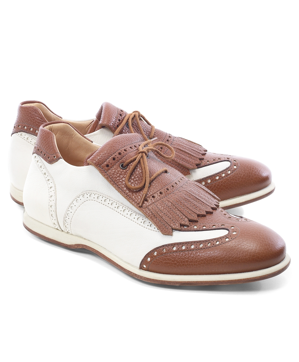 58e06e5b778 Lyst - Brooks Brothers Kiltie Golf Shoes in Brown for Men