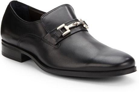 Bruno Magli Gupper Leather Loafers in Black for Men