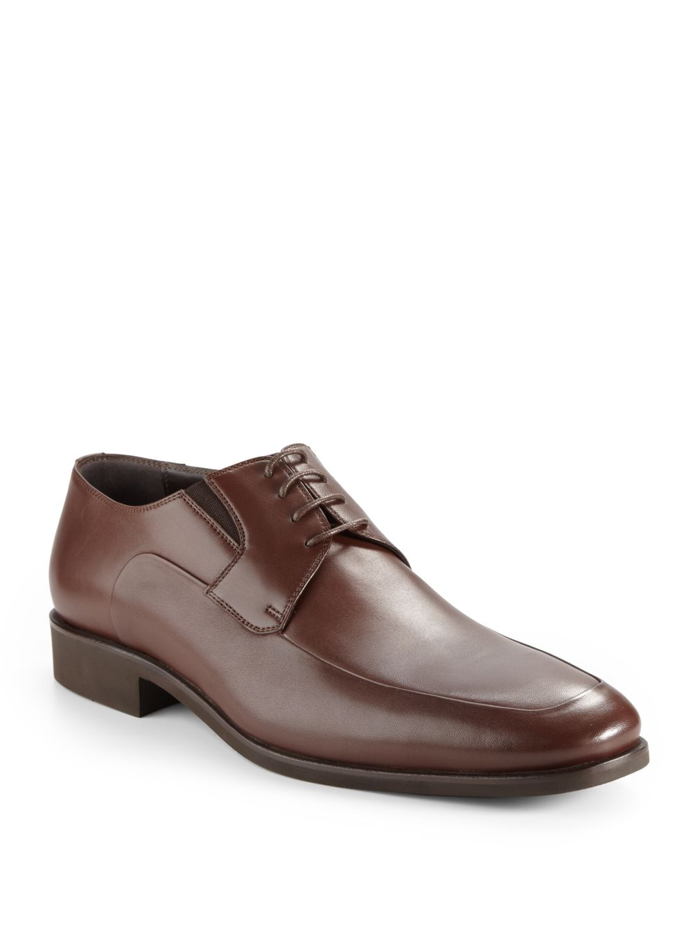 bruno magli rammola leather dress shoes in brown for