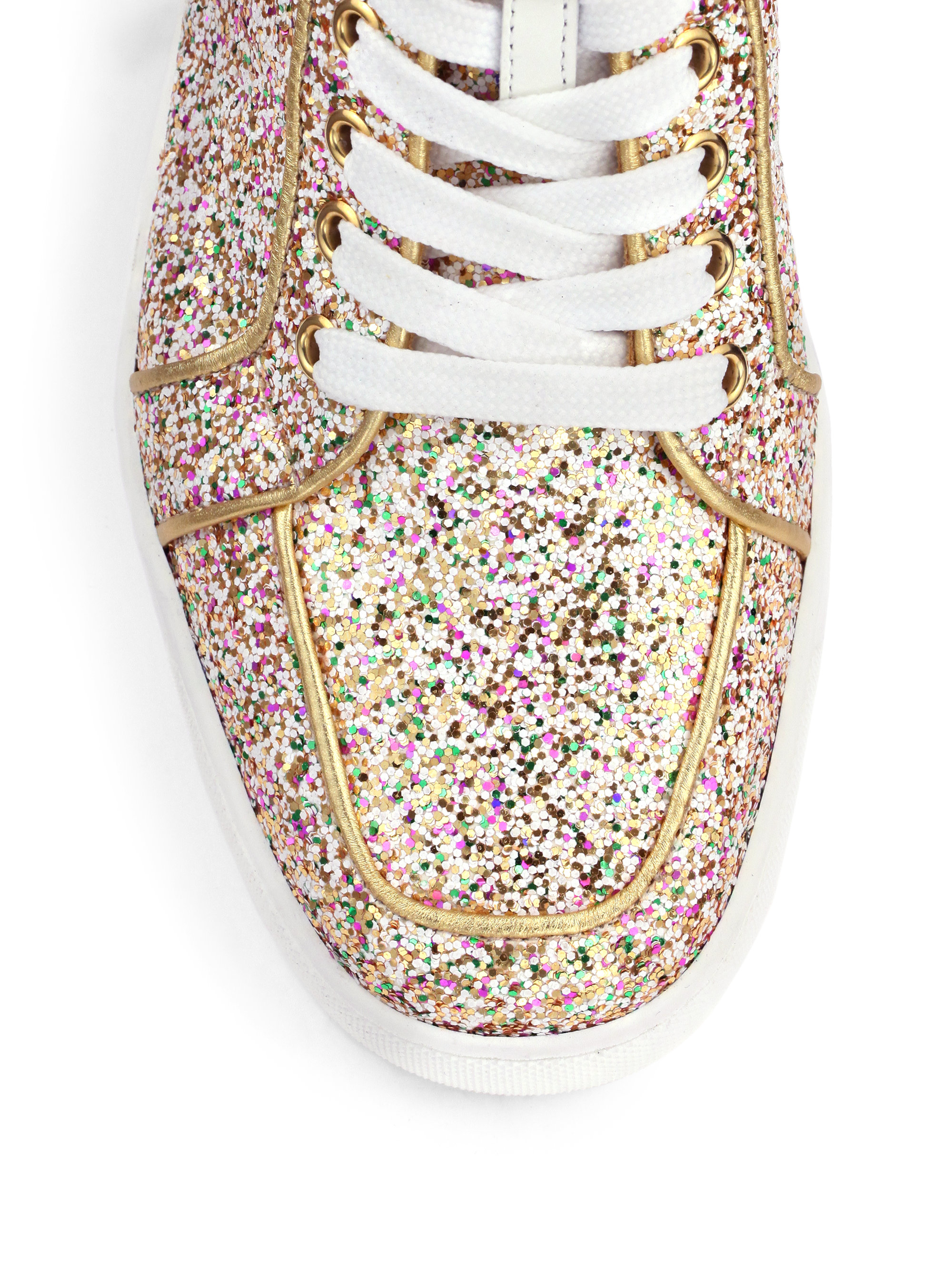 5d2dfb99b9b Christian Louboutin Metallic Glitter Hightop Sneakers