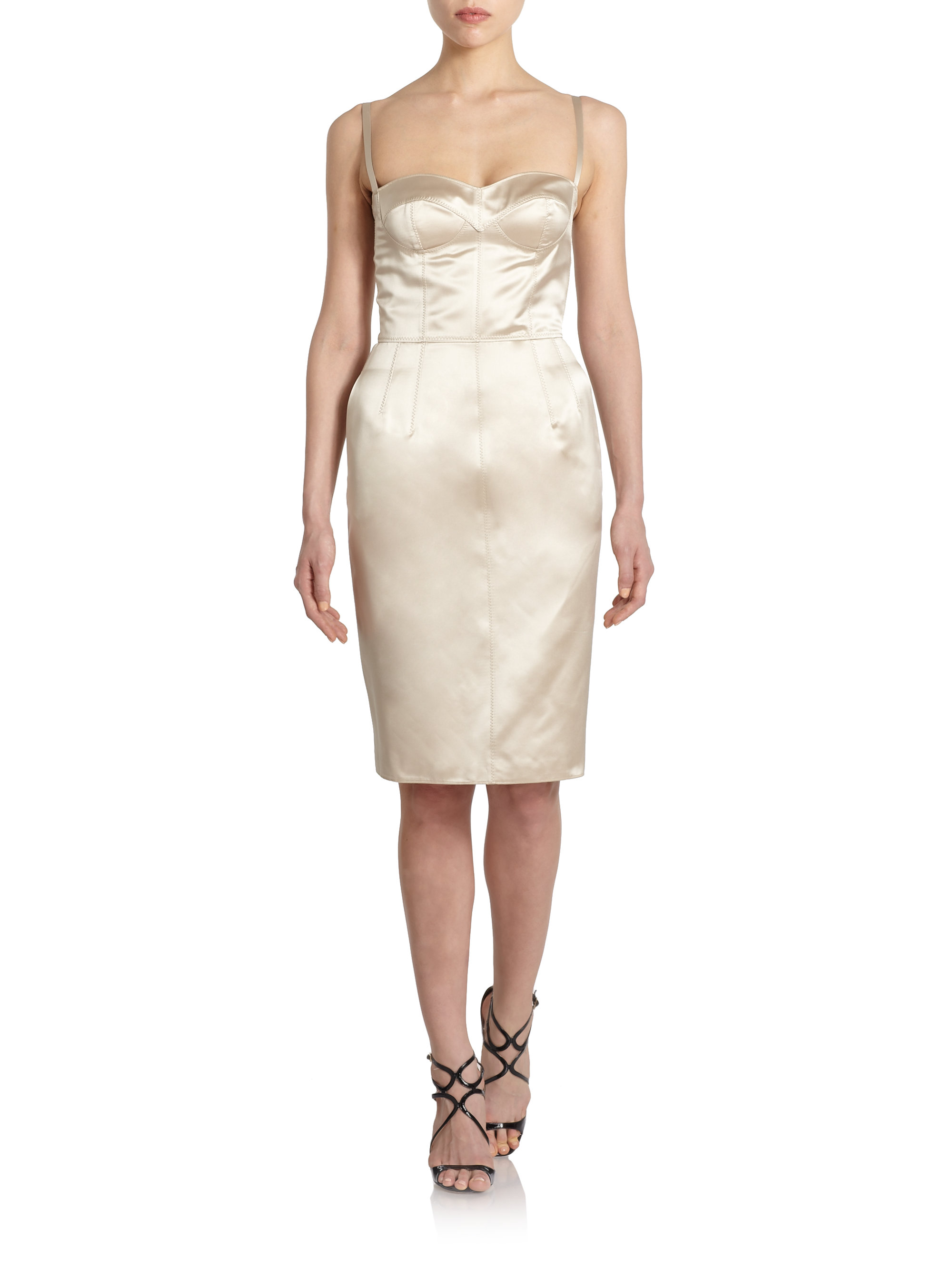 Satin dress Dolce & Gabbana Sale With Credit Card From China Free Shipping How Much 0h6m4zrF
