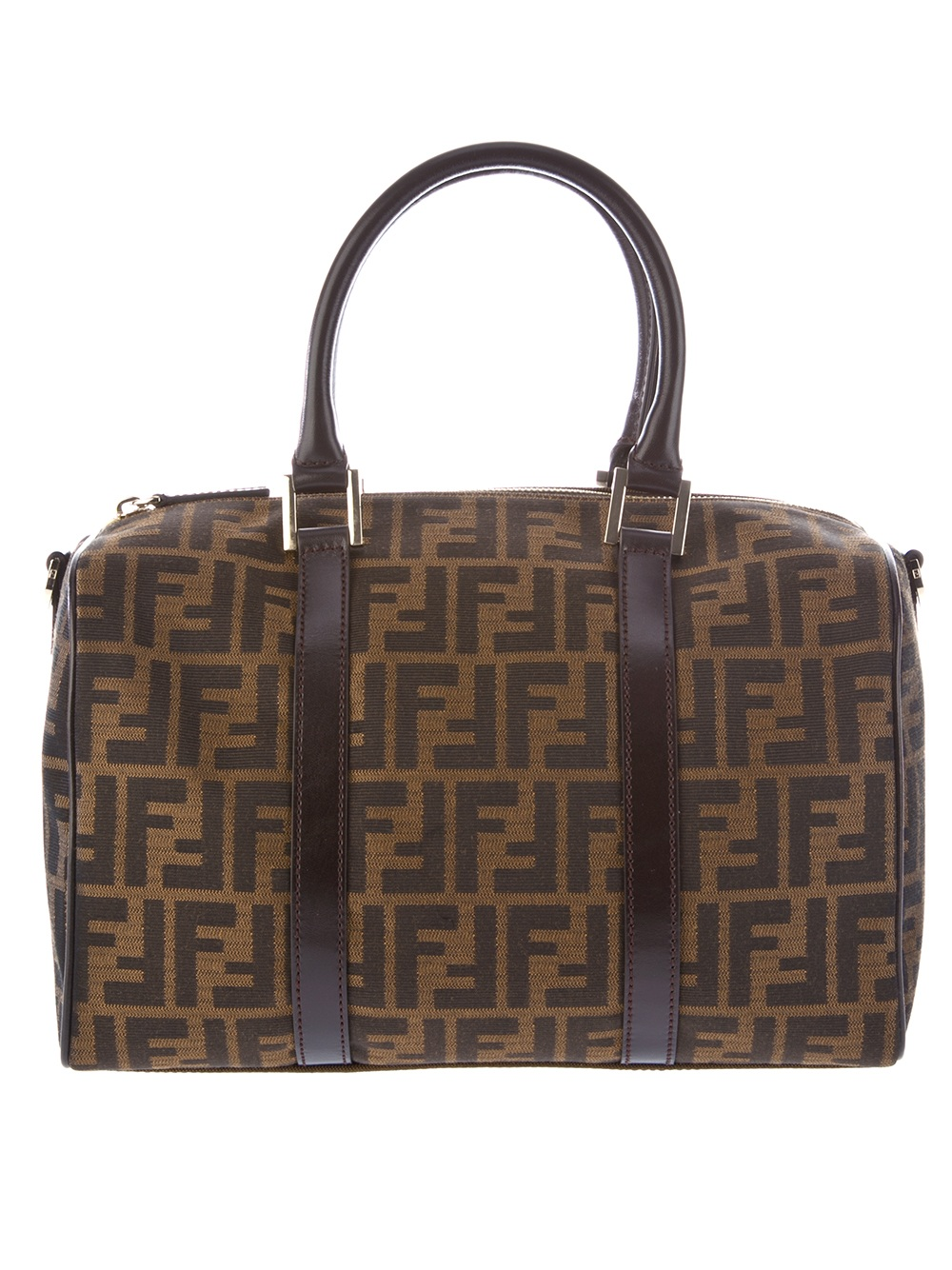 shades of arriving aliexpress Fendi Logo Print Holdall Bag in Brown - Lyst