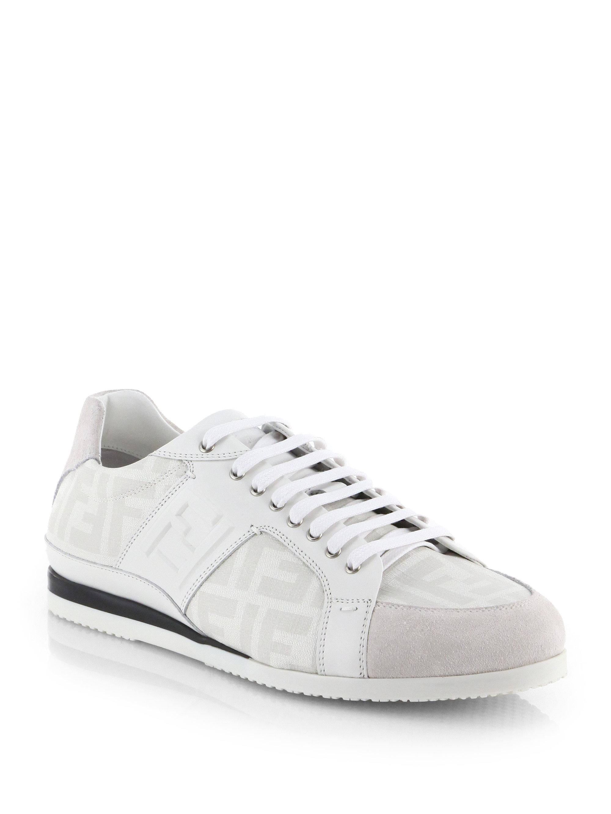 logo lace-up sneakers - White Fendi eRcPwrEdJj