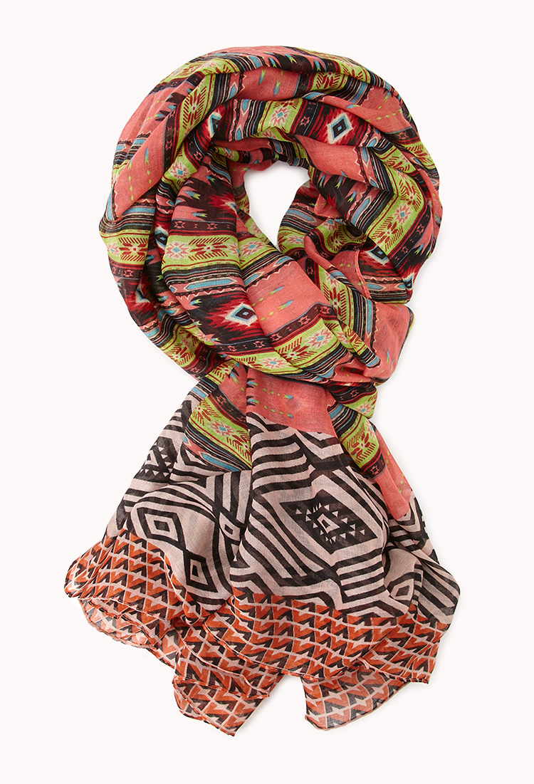 forever 21 rustic southwestern print scarf lyst