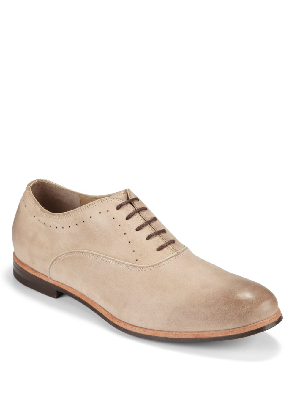 jd fisk burnished leather saddle shoes in