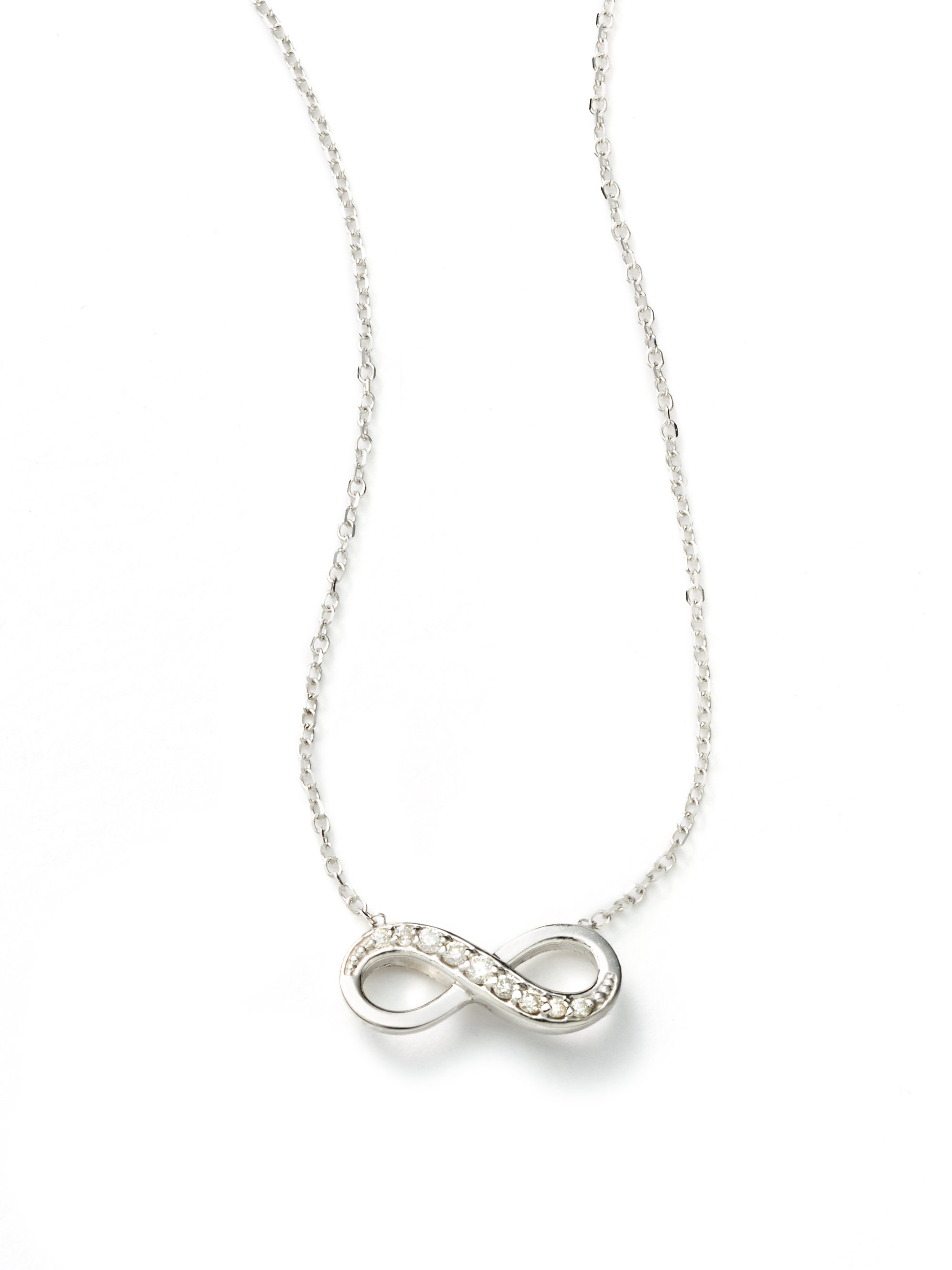 Kc designs Diamond 14k White Gold Infinity Necklace in Metallic