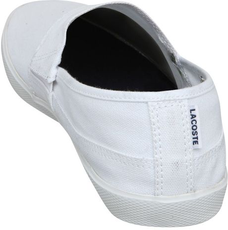 Clothes stores :: Womens white canvas slip on shoes