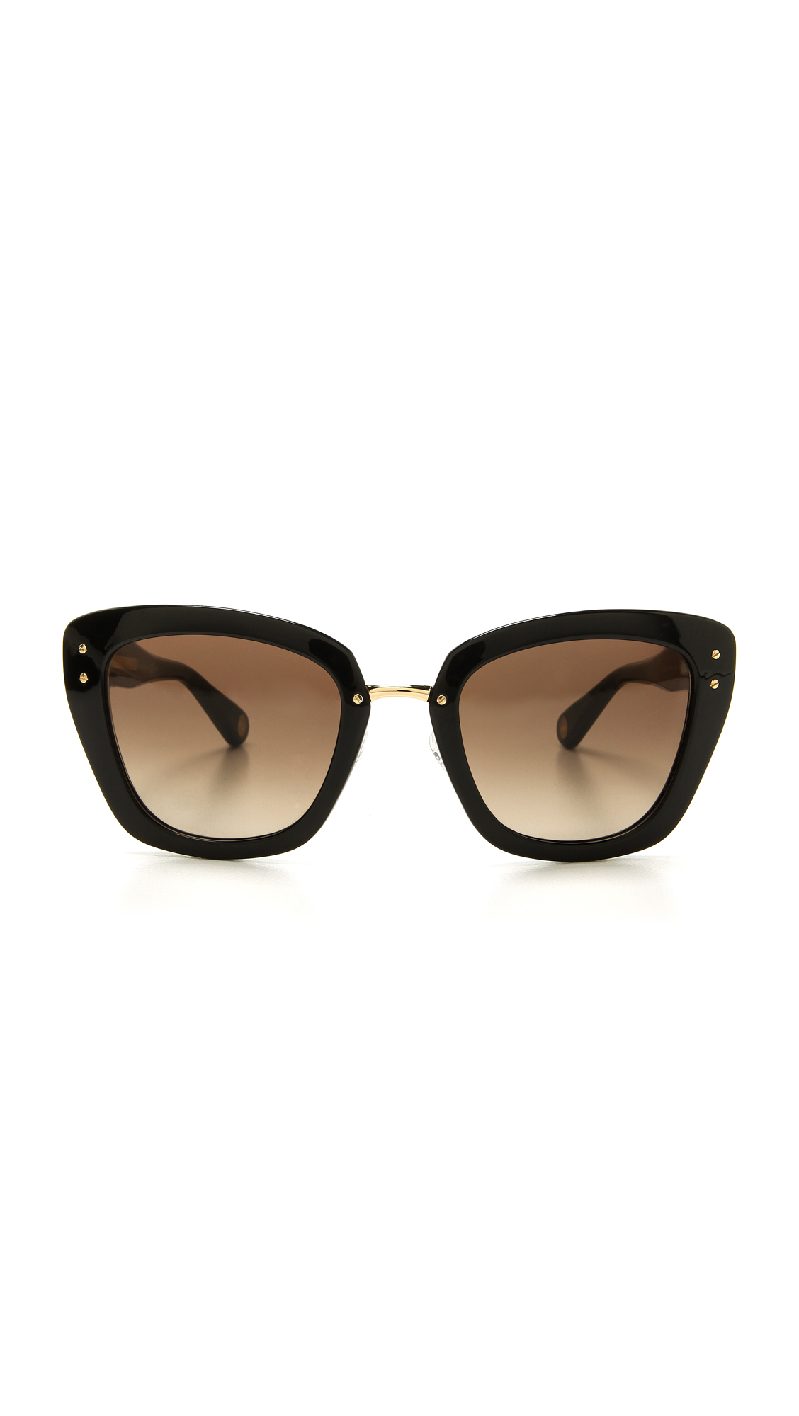Marc Jacobs Gold Frame Sunglasses : Marc jacobs Thick Frame Sunglasses - Gold/Black/Brown ...