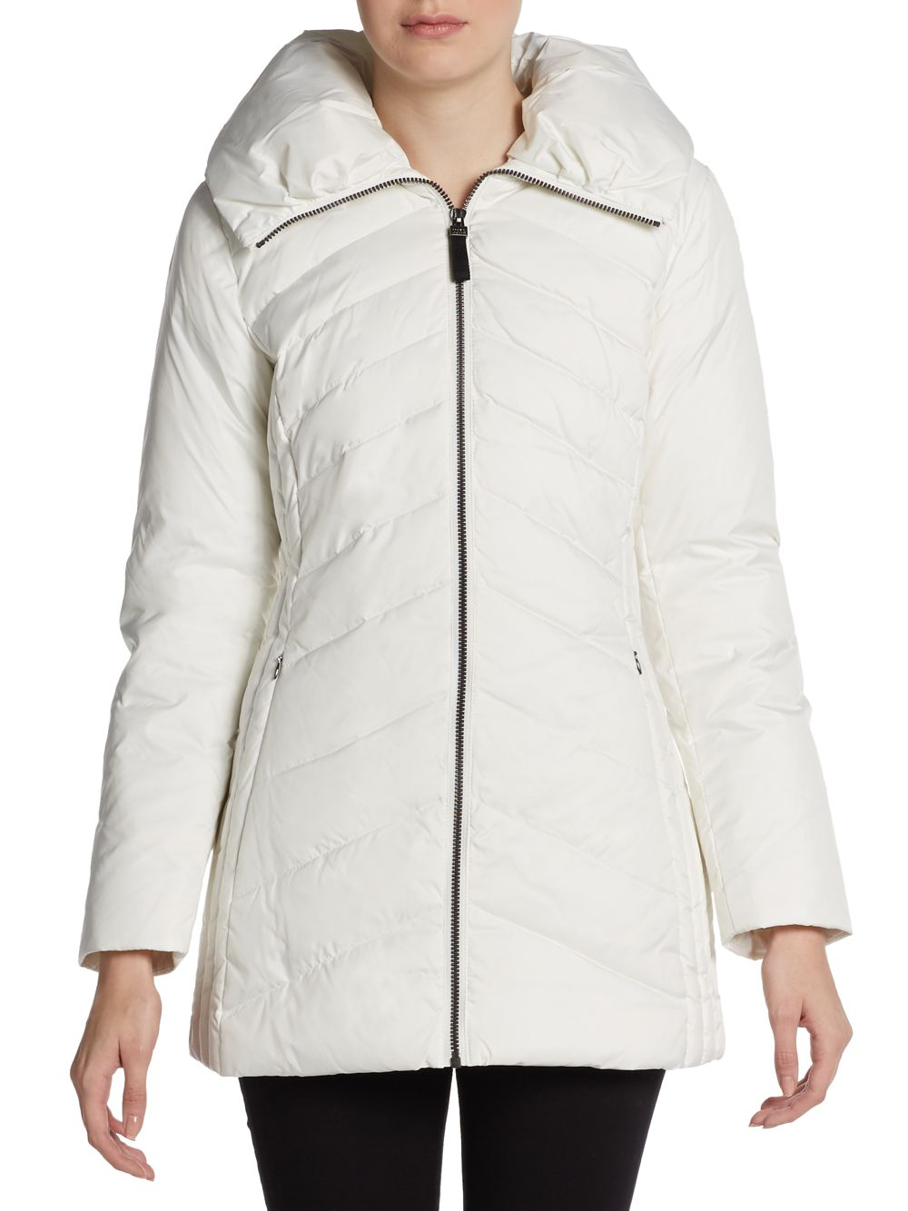 Marc New York Mulberry Quilted Puffer Jacket In White Lyst