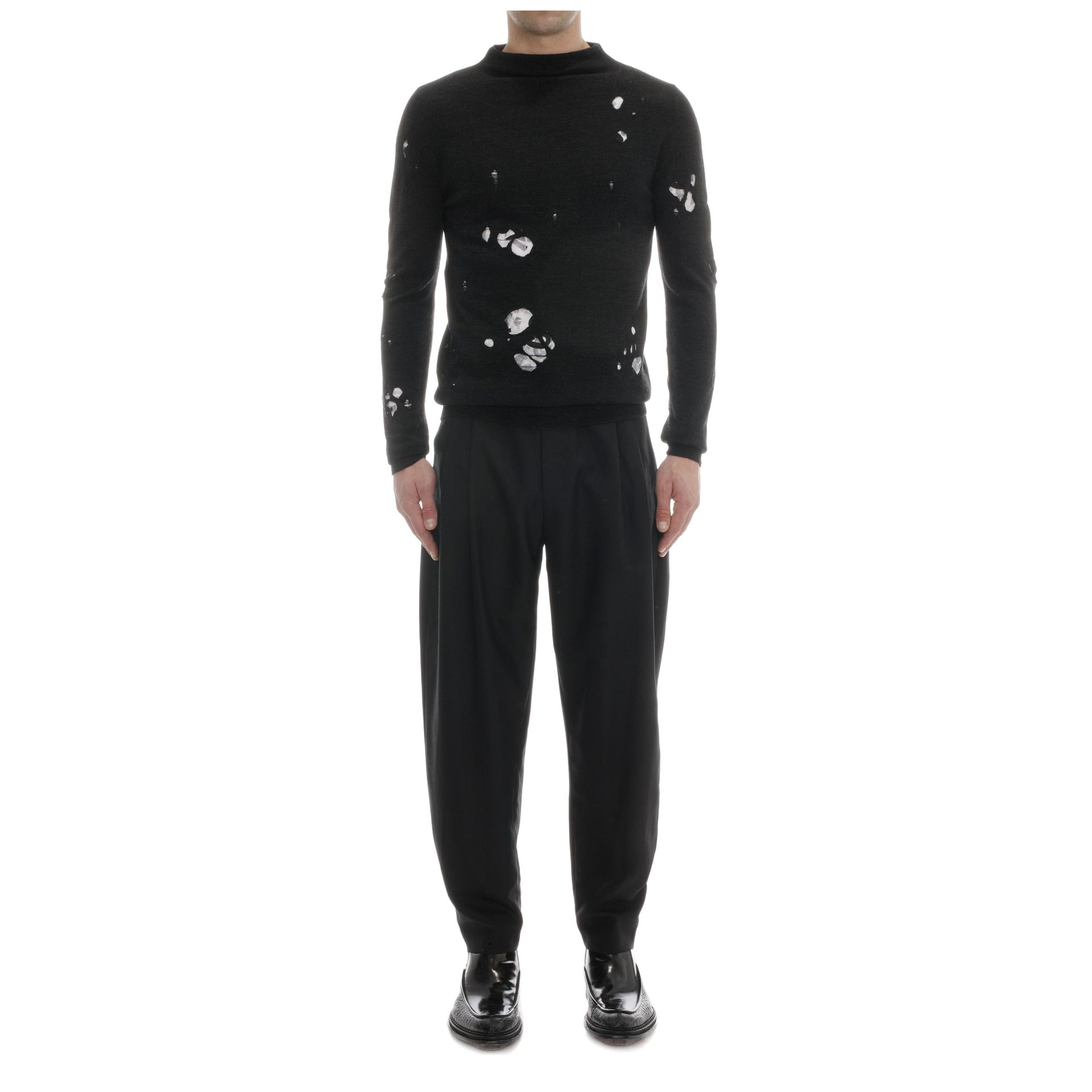 de74aee8c37c9 Lyst - McQ Three Pleat Trousers in Gray for Men