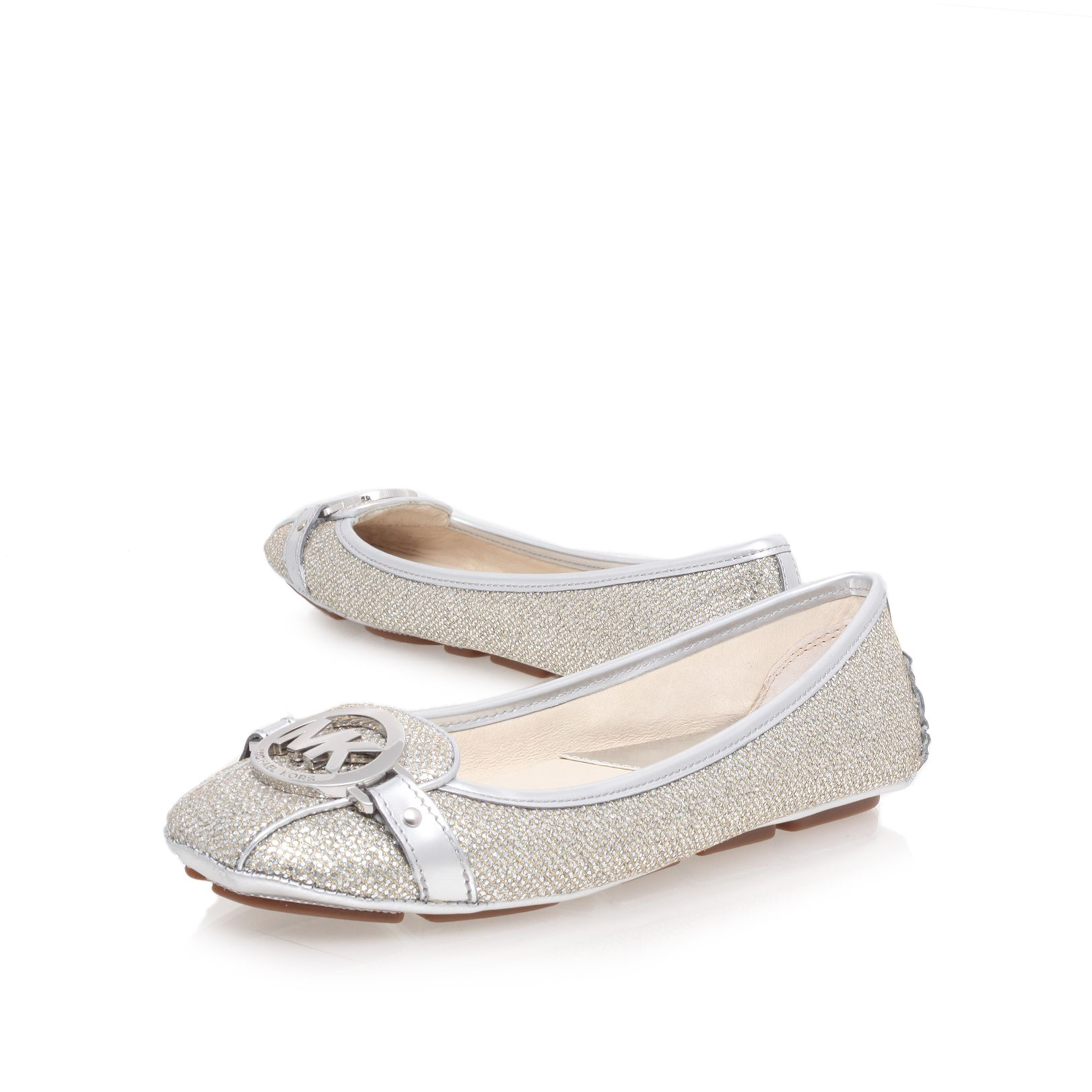 michael kors fulton moc ballerina pump shoes in metallic lyst. Black Bedroom Furniture Sets. Home Design Ideas