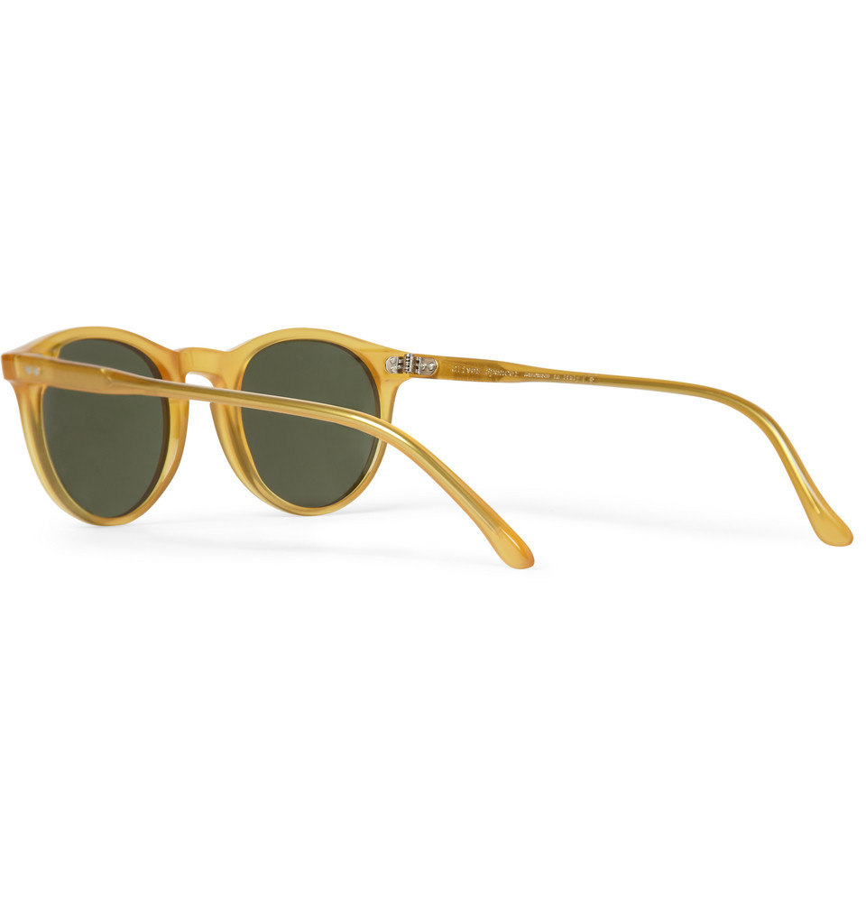 506fee7f5de9 Oliver Spencer Sid Roundframe Acetate Sunglasses in Yellow for Men ...