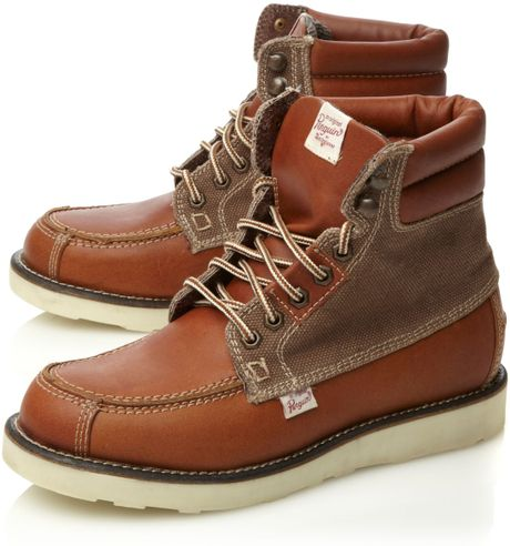 original penguin klondyke 2 casual boots in brown for