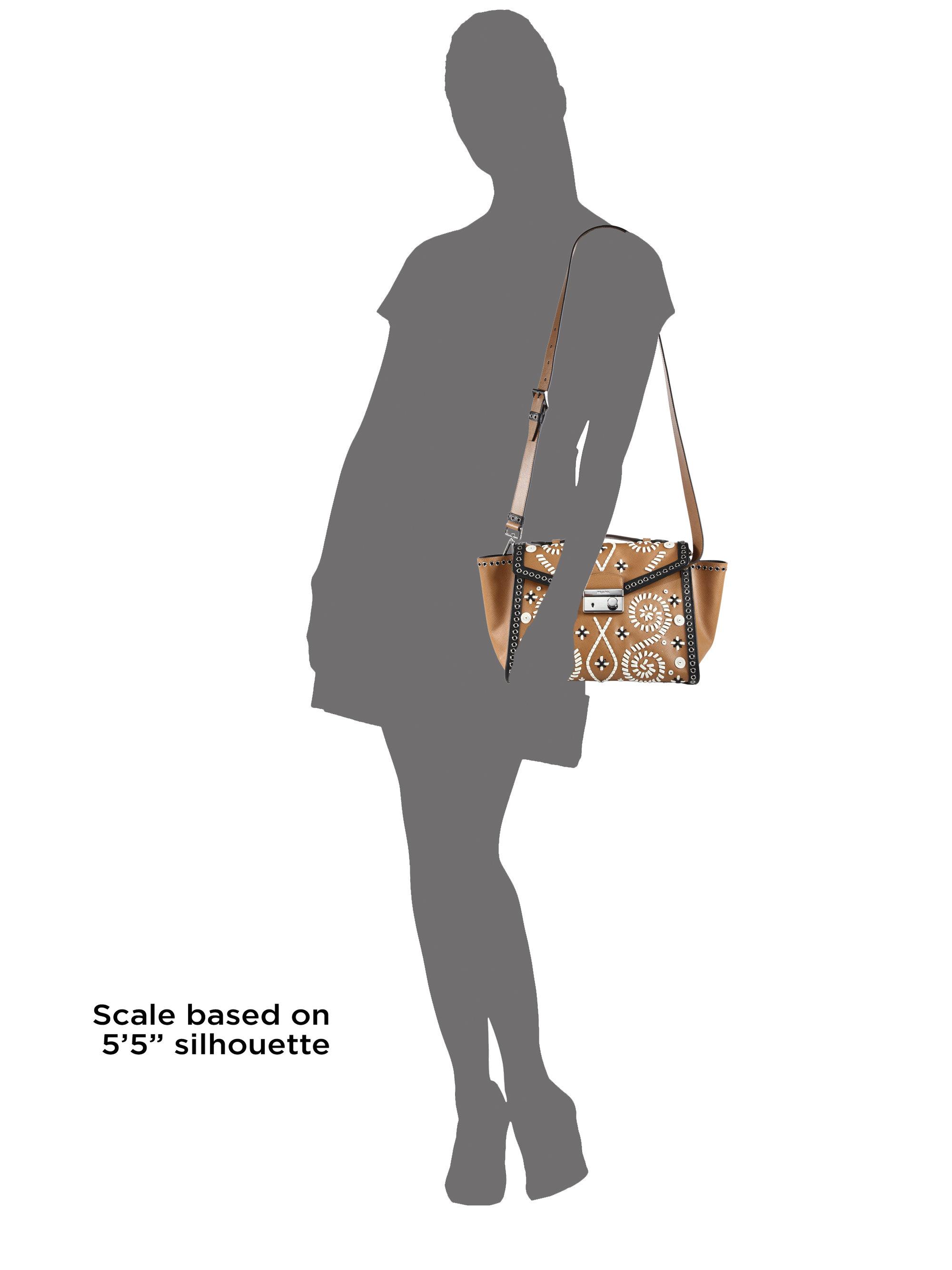 prada embellished tweed shoulder bag