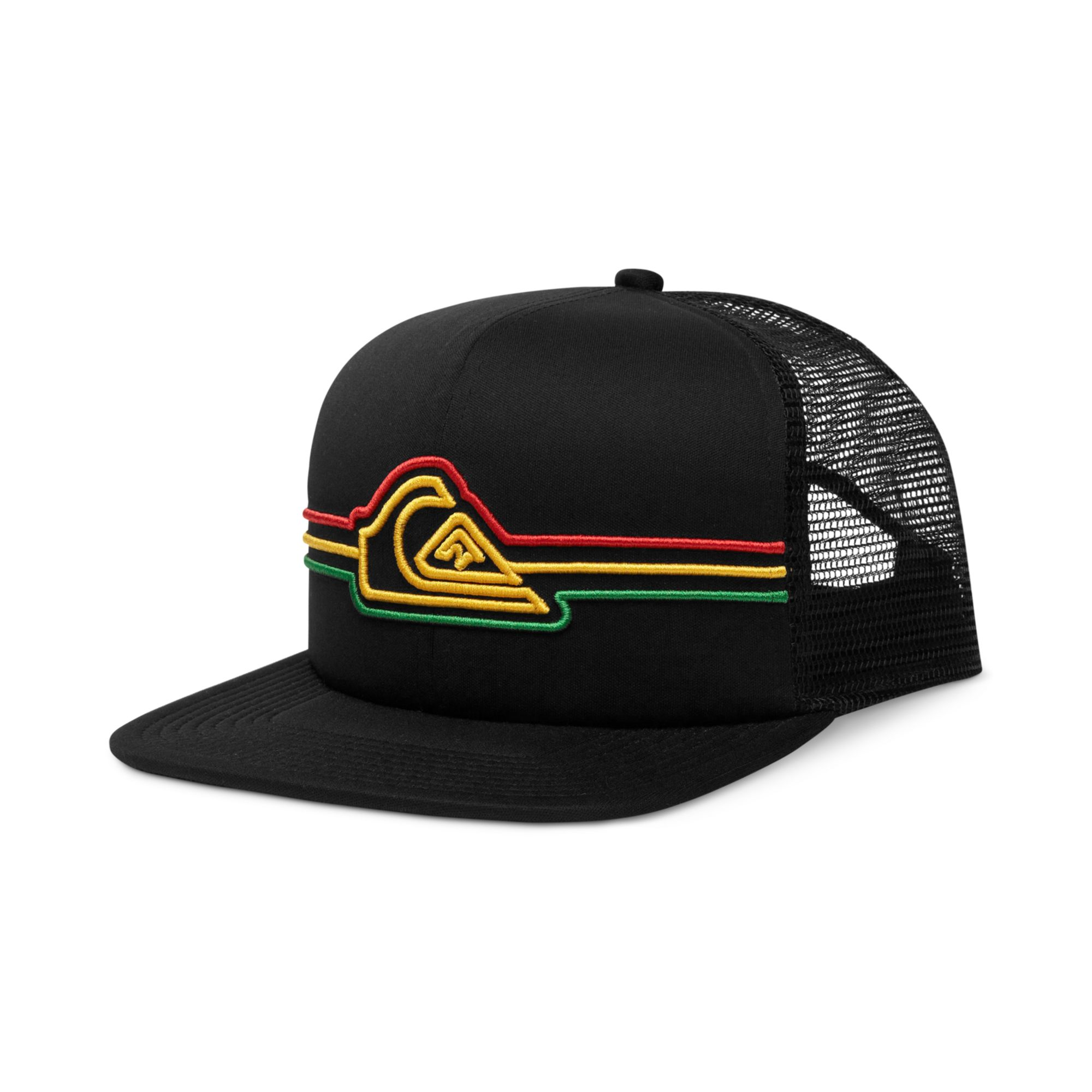 cdec8a21ace ... official store lyst quiksilver strapped mesh trucker hat in black for  men fe63e c68e3