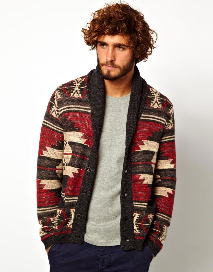 Mens Polo Zip Sweater