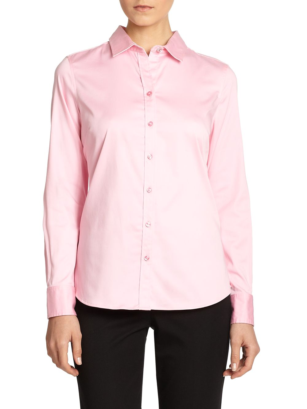 Robert Graham Maria Stretch Cotton Dress Shirt In Pink